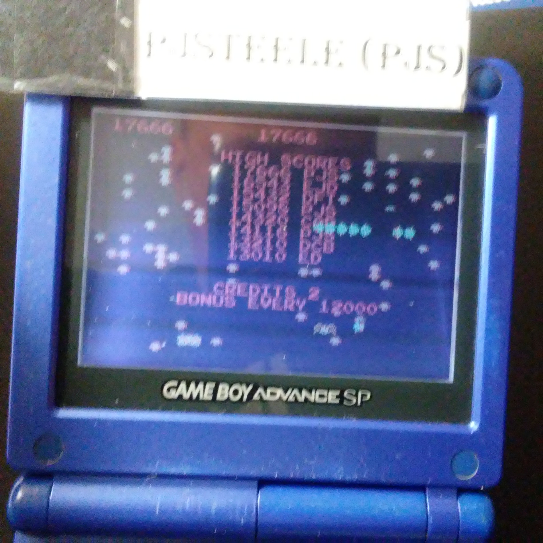 Pjsteele: Atari Anniversary Advance: Centipede (GBA) 17,666 points on 2017-12-11 20:08:28