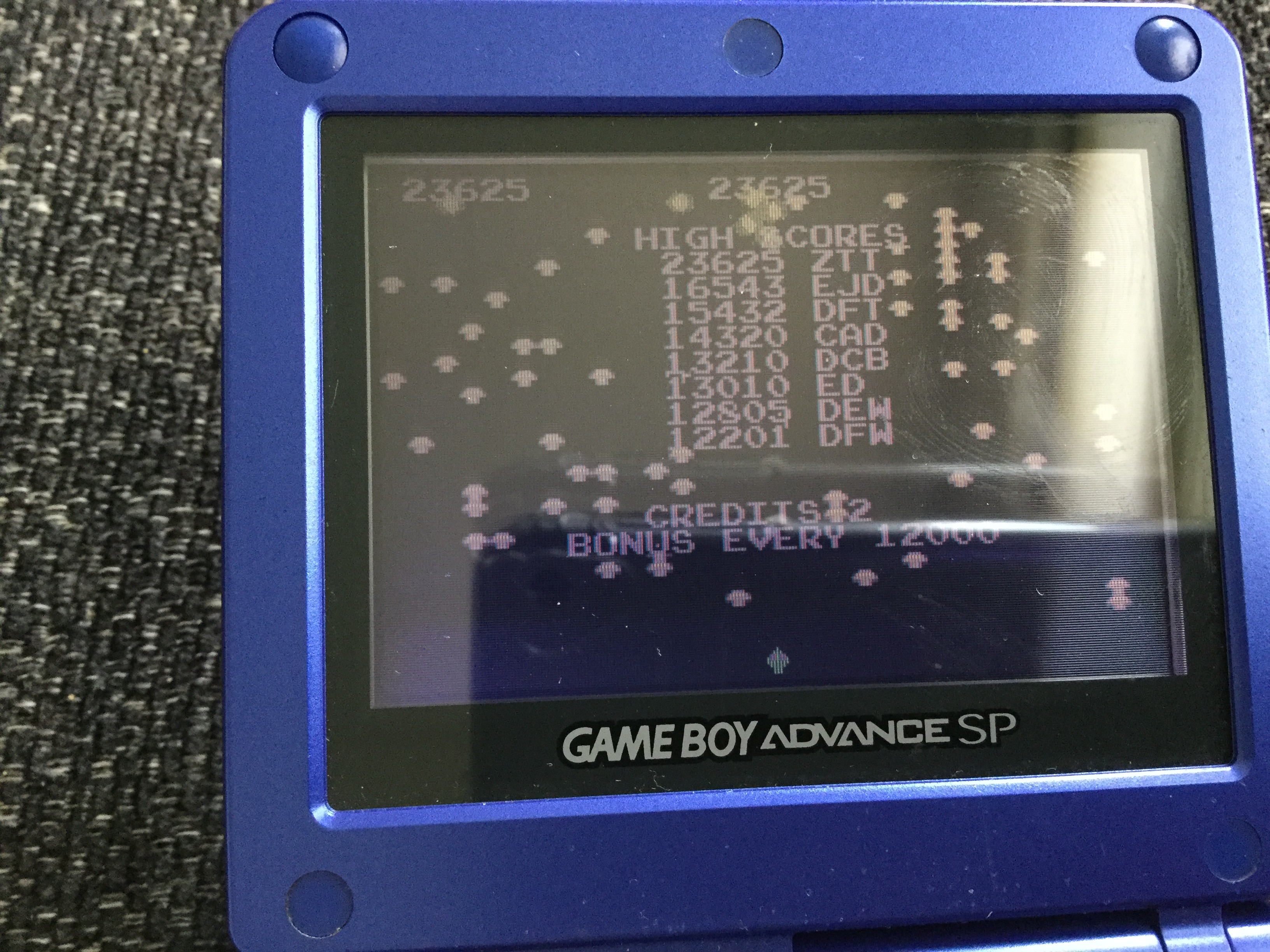 Frankie: Atari Anniversary Advance: Centipede (GBA) 23,625 points on 2018-05-05 00:20:17