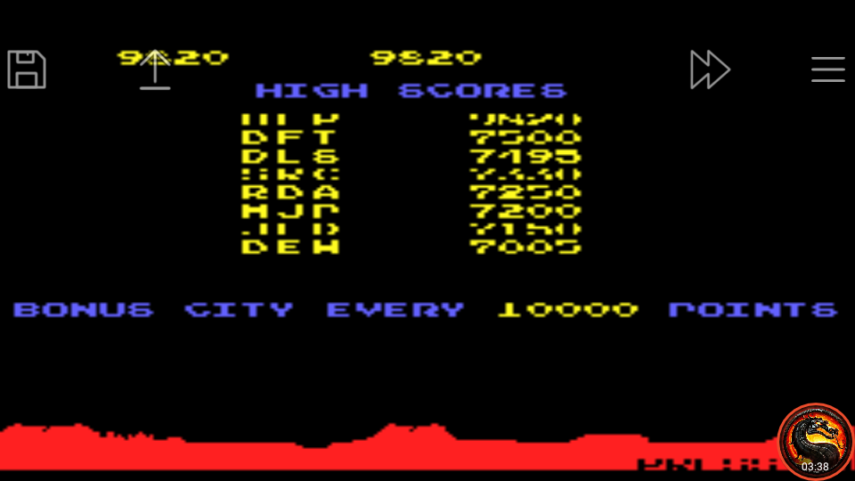 omargeddon: Atari Anniversary Advance: Missile Command (GBA Emulated) 9,820 points on 2020-09-10 17:38:03