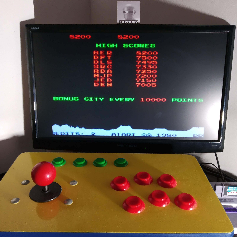 Larquey: Atari Anniversary Advance: Missile Command (GBA Emulated) 8,200 points on 2020-09-07 02:20:06