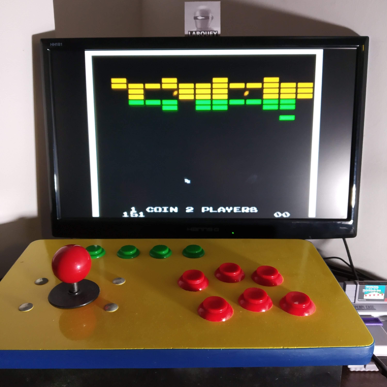 Larquey: Atari Anniversary Advance: Super Breakout (GBA Emulated) 151 points on 2020-09-09 06:27:20