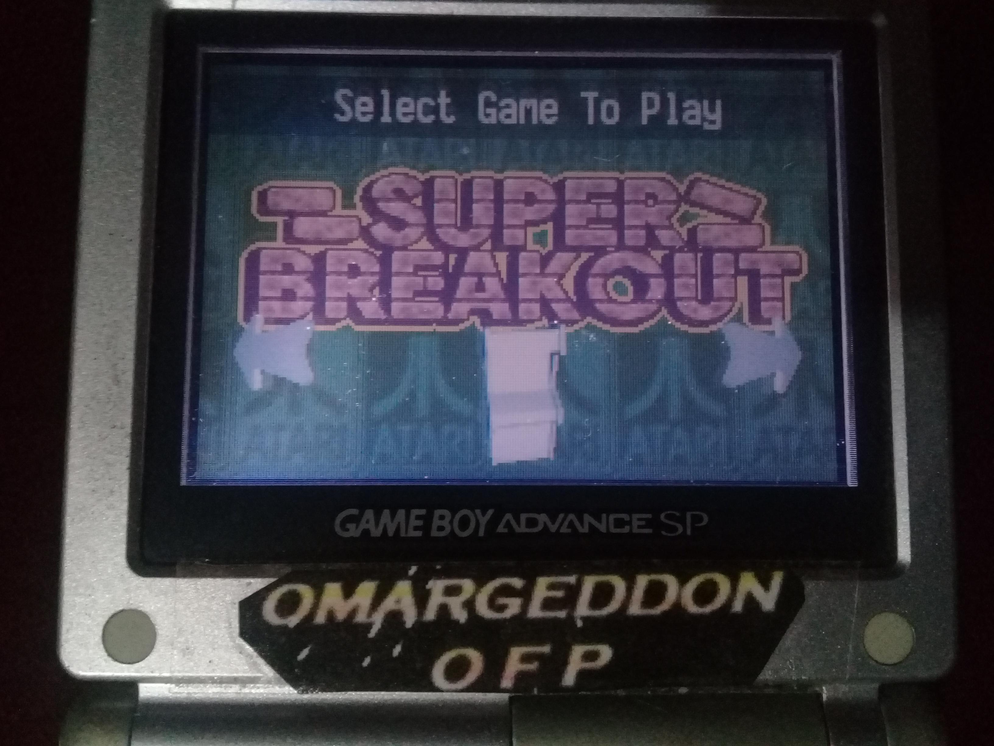 omargeddon: Atari Anniversary Advance: Super Breakout (GBA) 339 points on 2019-10-27 21:12:00