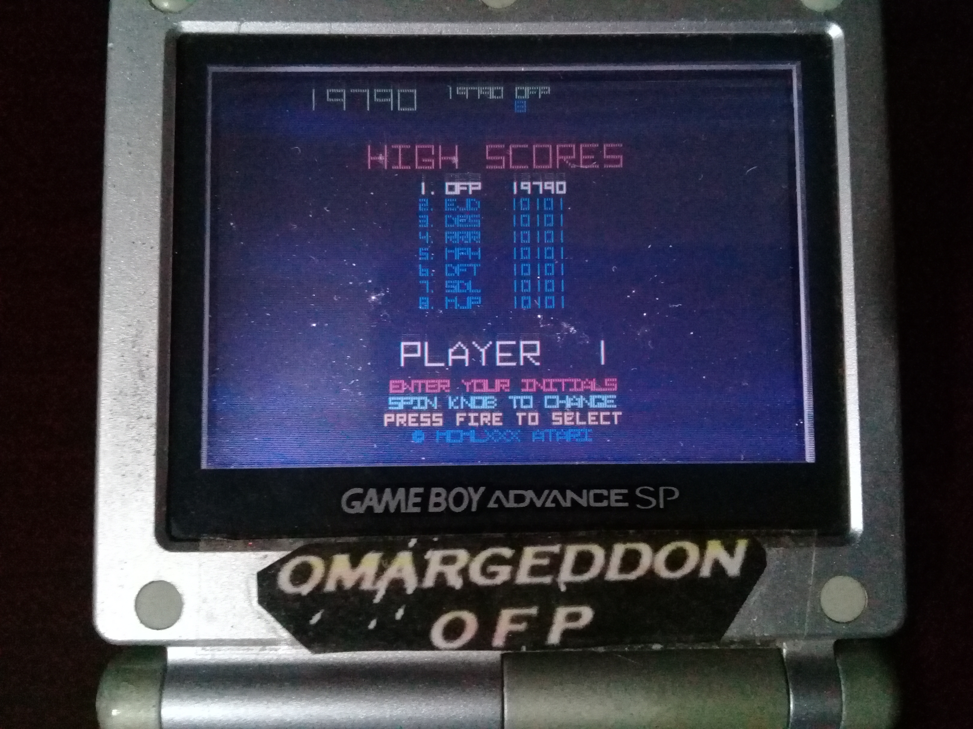 omargeddon: Atari Anniversary Advance: Tempest (GBA) 19,790 points on 2019-10-28 11:23:28