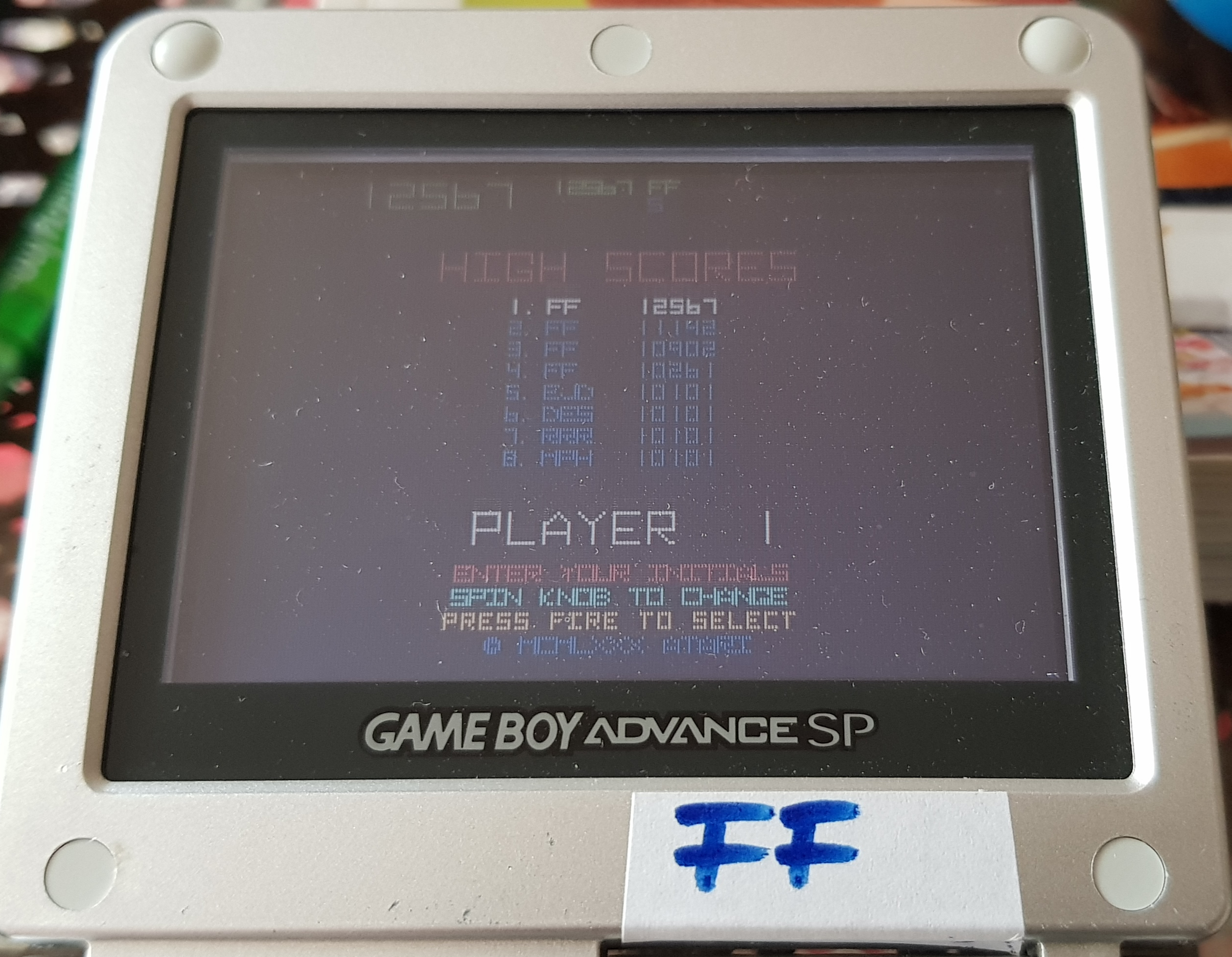Fanta: Atari Anniversary Advance: Tempest (GBA) 12,567 points on 2019-10-29 06:29:03