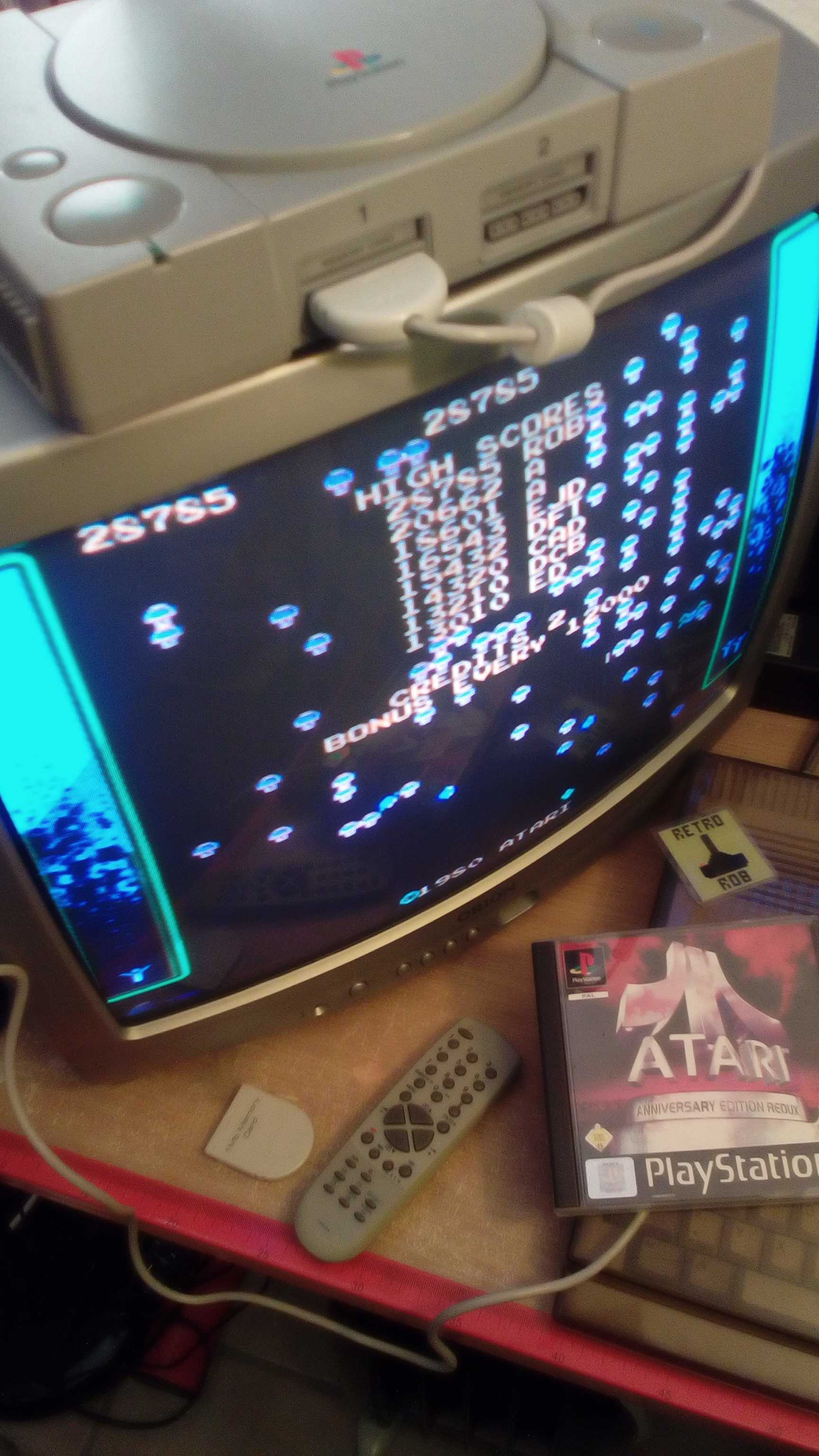 RetroRob: Atari Anniversary Edition Redux [Centipede] (Playstation 1) 28,785 points on 2020-03-29 04:48:58