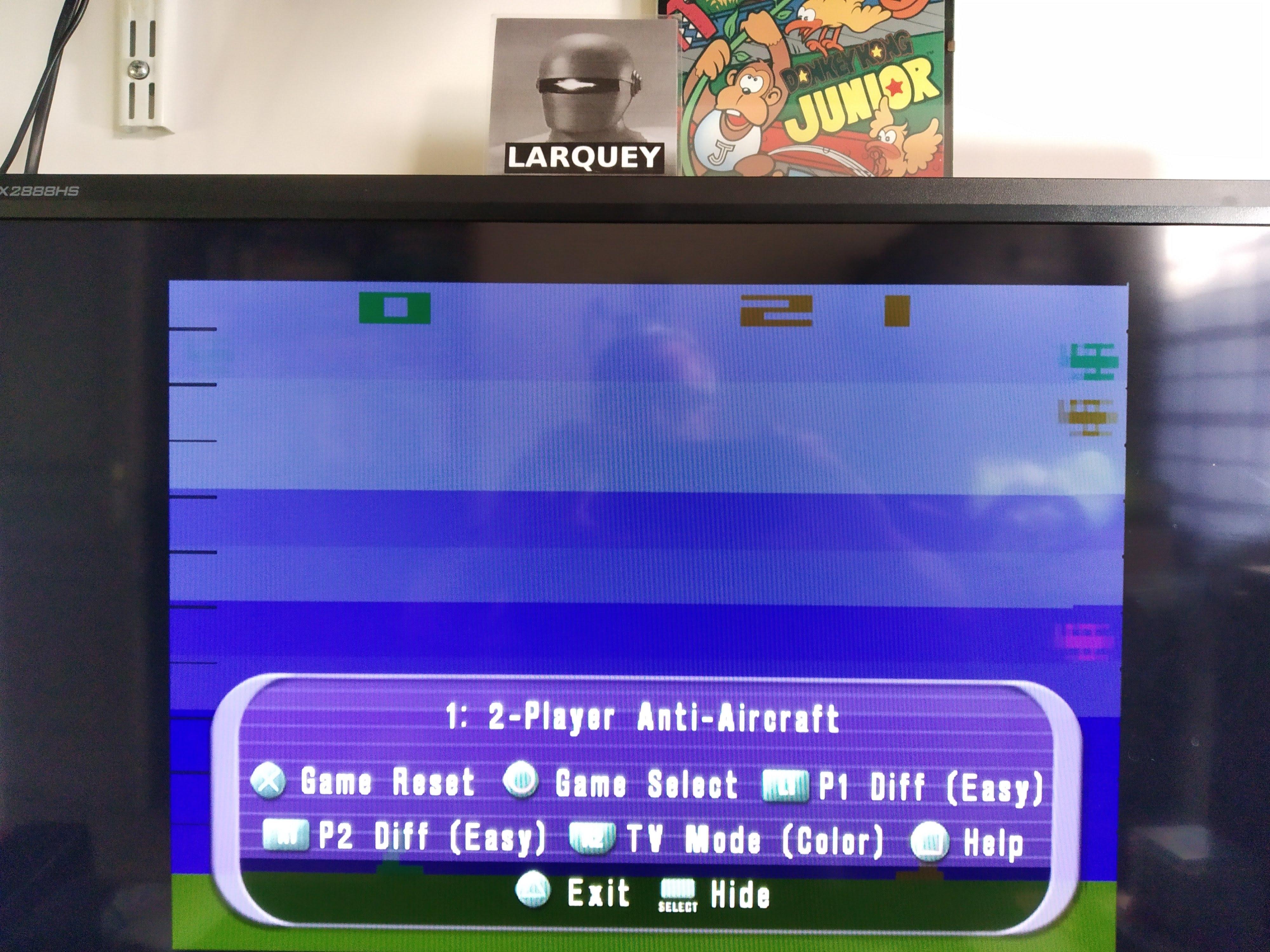 Larquey: Atari Anthology: Air-Sea Battle [Game 1B] (Playstation 2 Emulated) 21 points on 2020-08-03 13:19:33