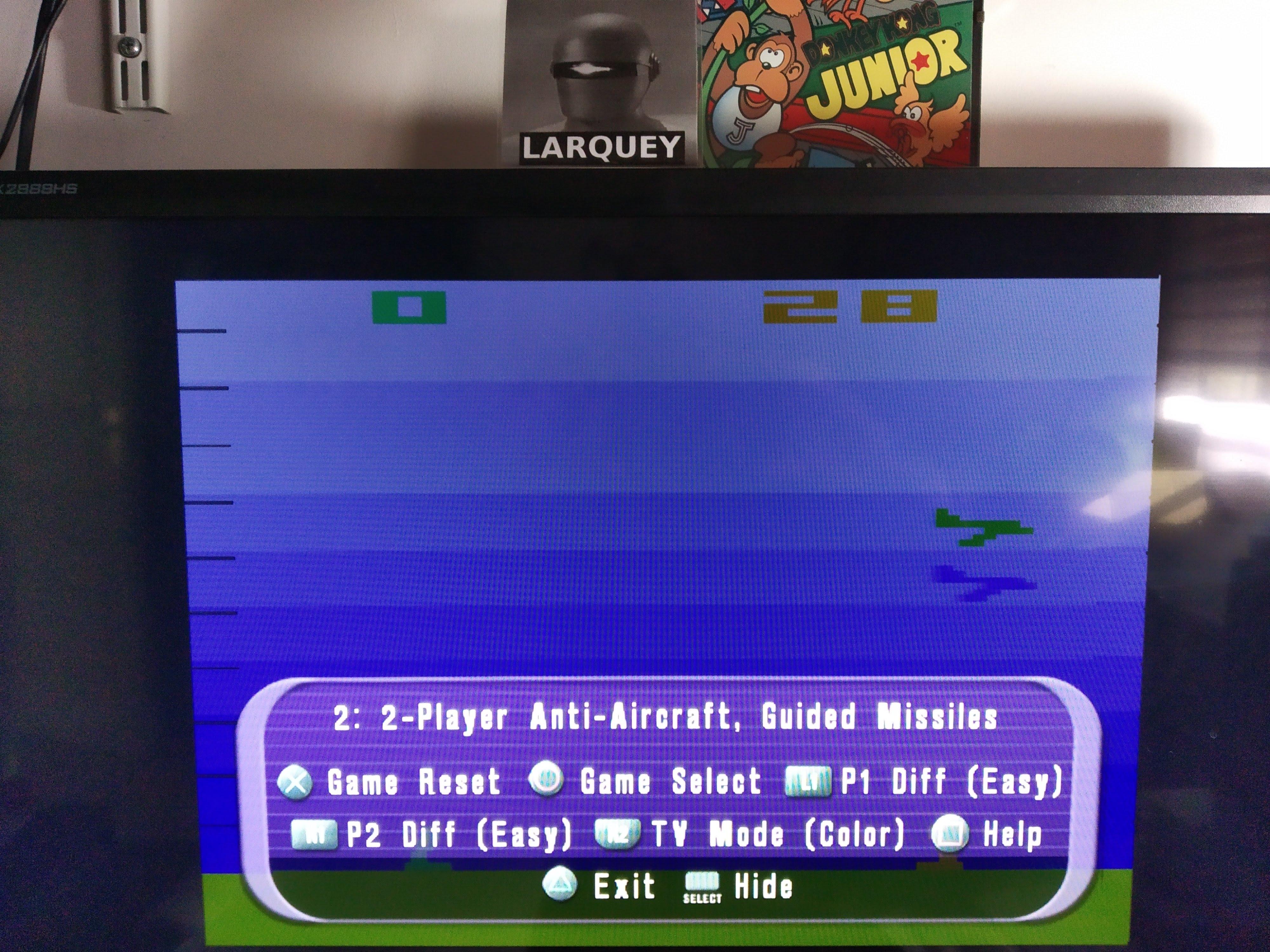 Larquey: Atari Anthology: Air-Sea Battle [Game 2B] (Playstation 2 Emulated) 28 points on 2020-08-05 12:10:00