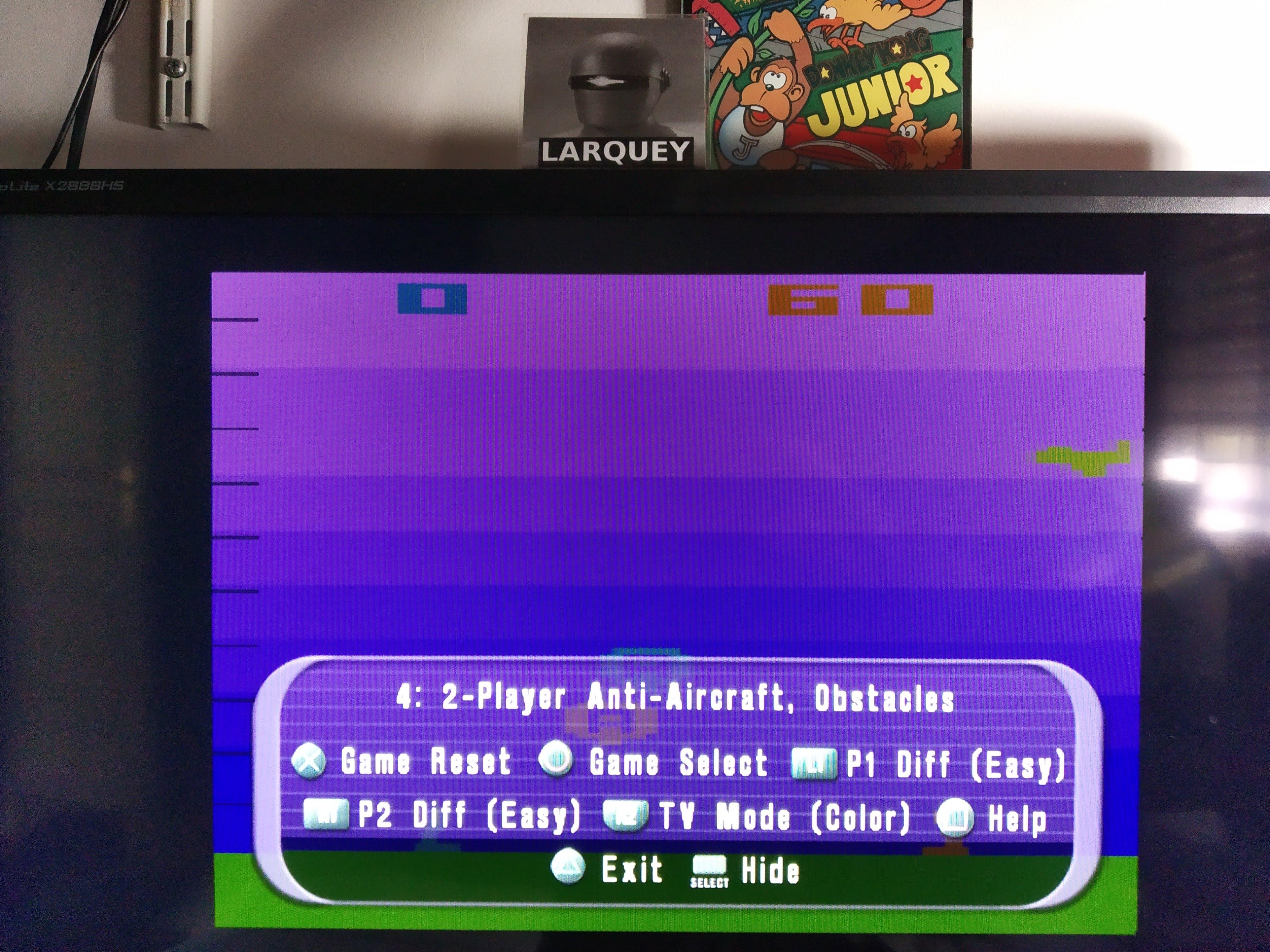 Larquey: Atari Anthology: Air-Sea Battle [Game 4B] (Playstation 2 Emulated) 60 points on 2020-08-05 12:15:56