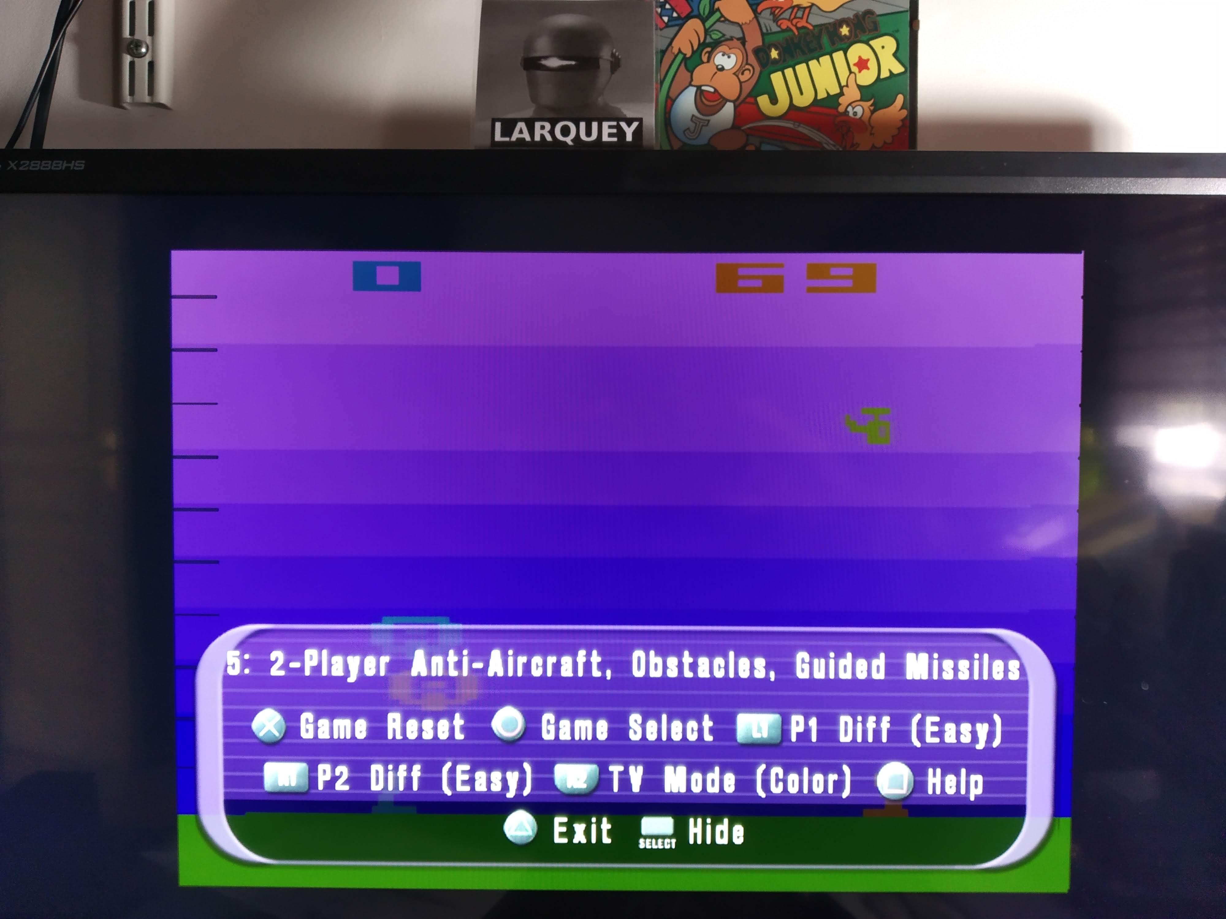 Larquey: Atari Anthology: Air-Sea Battle [Game 5B] (Playstation 2 Emulated) 69 points on 2020-08-05 12:17:46
