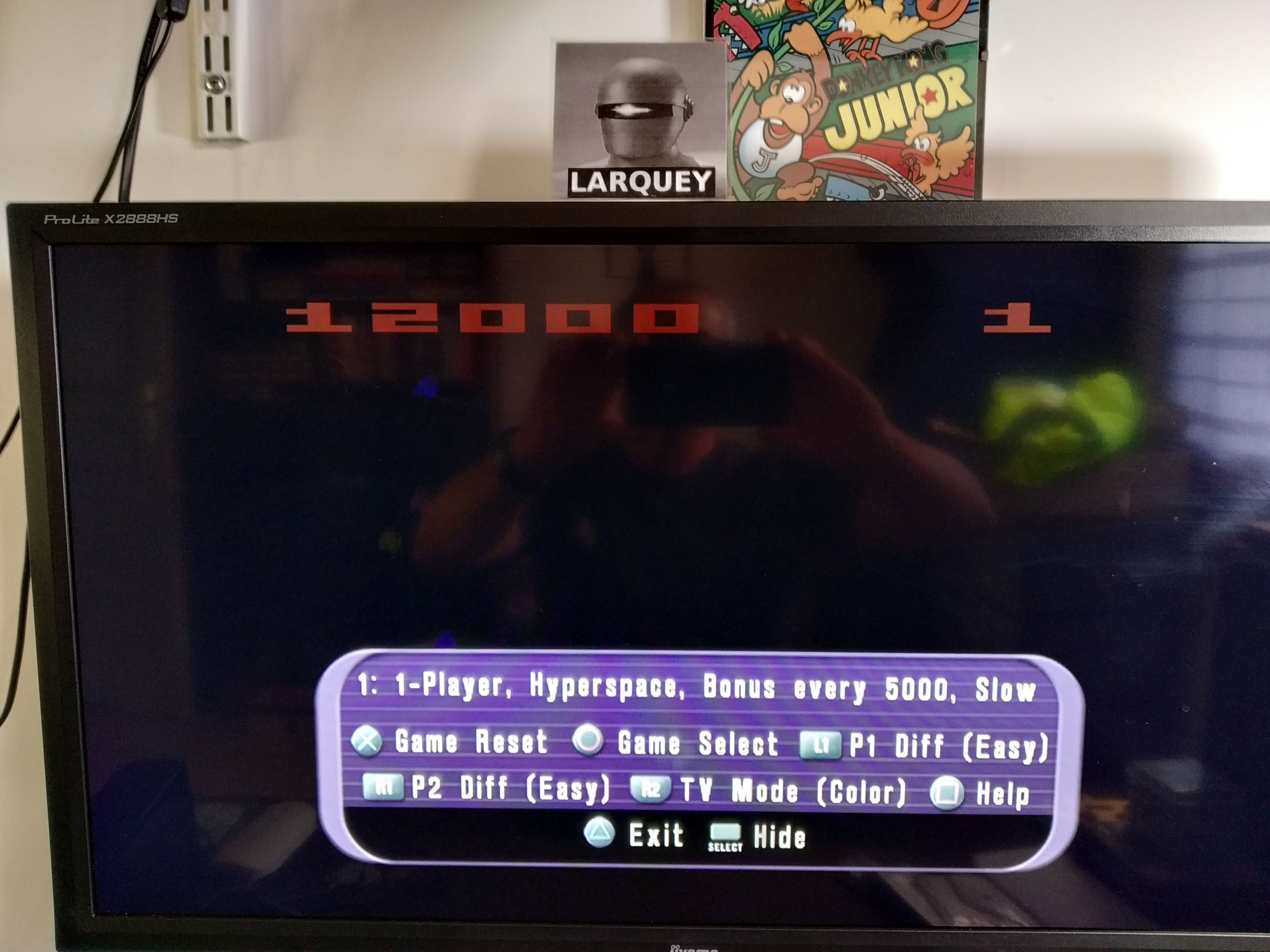 Larquey: Atari Anthology: Asteroids - home version [Game 1B] (Playstation 2 Emulated) 12,000 points on 2020-08-03 13:20:46