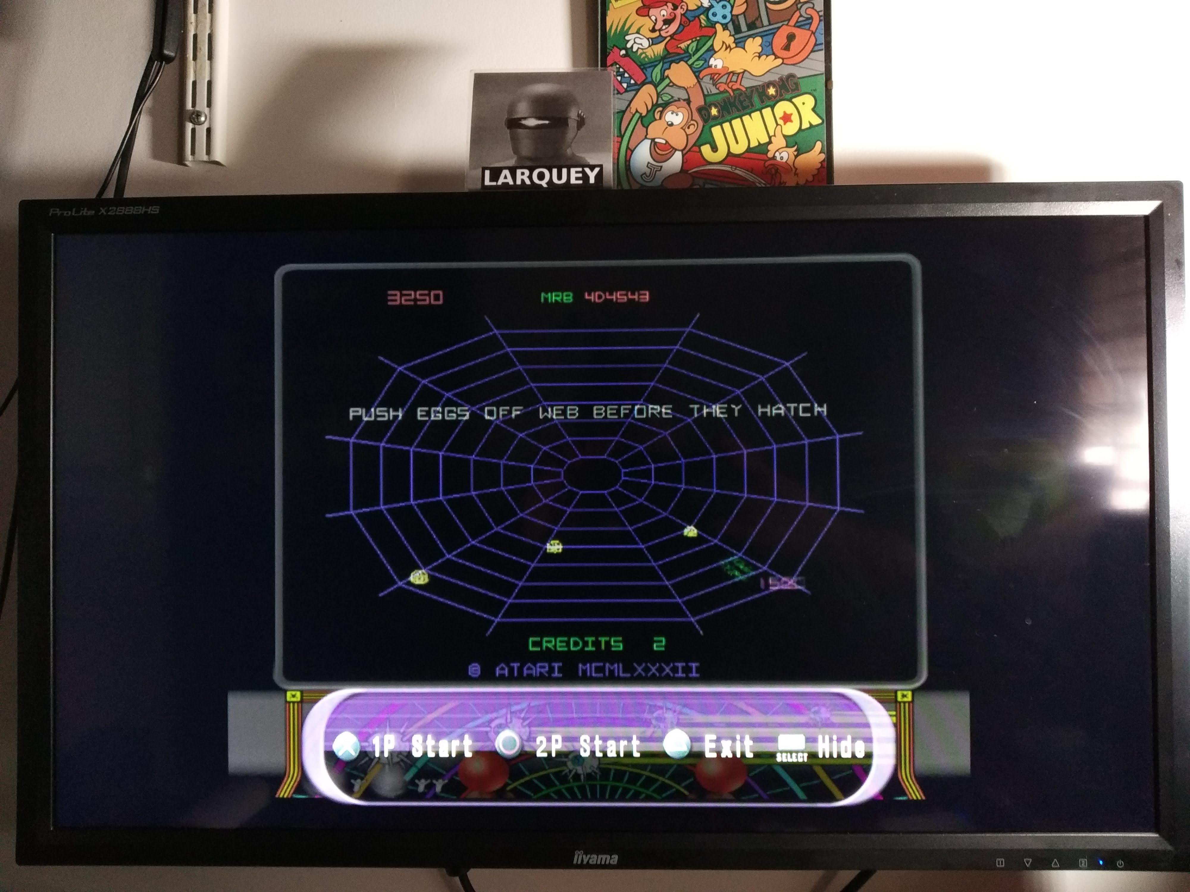 Larquey: Atari Anthology: Black Widow [Arcade Version] (Playstation 2 Emulated) 3,250 points on 2020-08-04 11:57:07