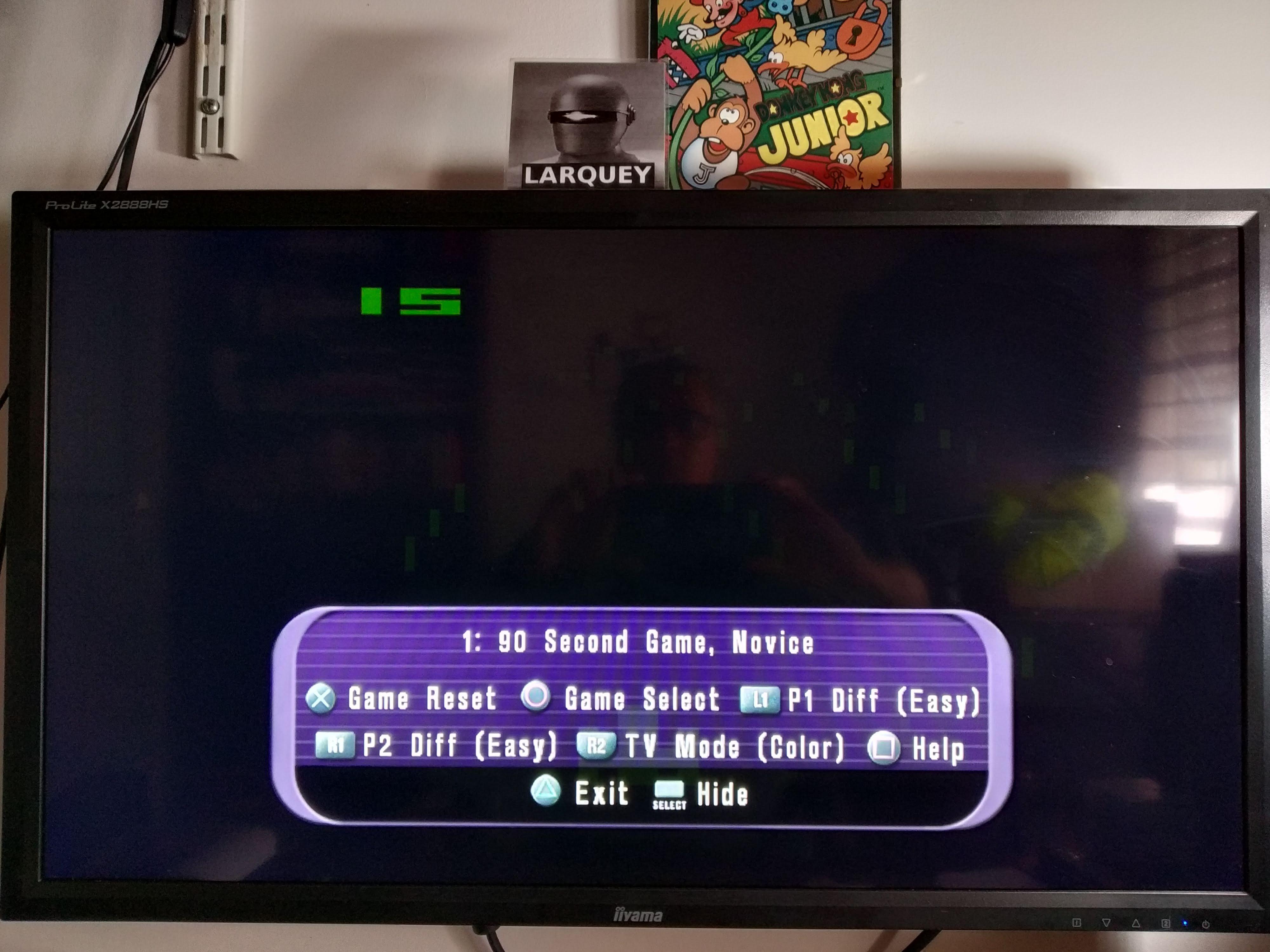 Larquey: Atari Anthology: Night Driver [Game 1B] (Playstation 2 Emulated) 15 points on 2020-08-04 11:37:20