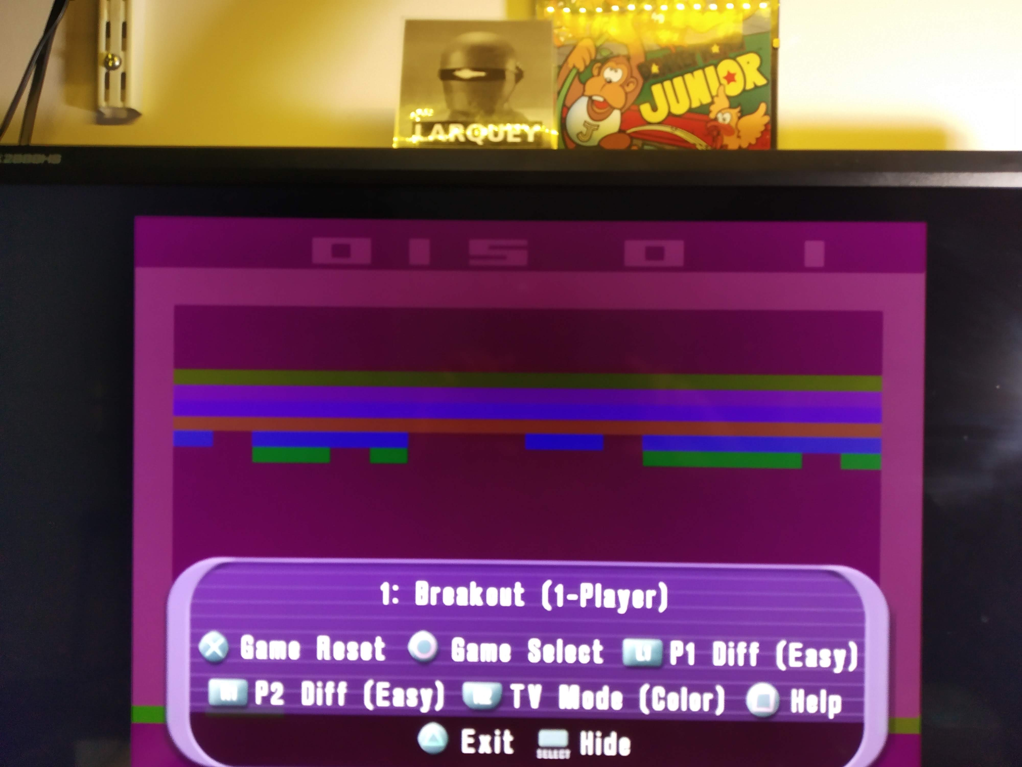 Larquey: Atari Anthology: Super Breakout - Home Version [Game 1B] (Playstation 2 Emulated) 15 points on 2020-08-02 13:36:59