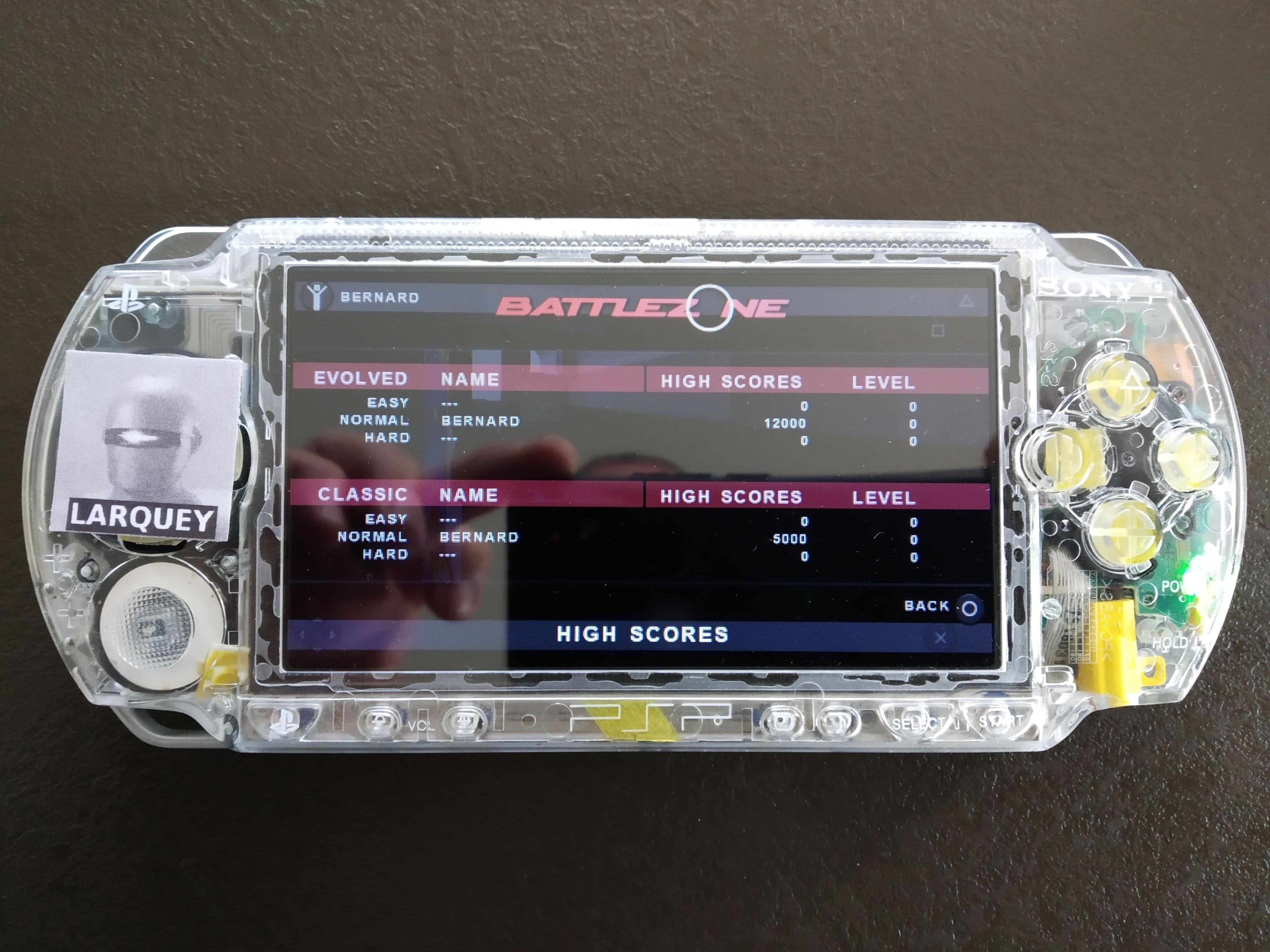 Larquey: Atari Classics Evolved: Battlezone [Evolved] (PSP) 12,000 points on 2019-12-26 17:11:14