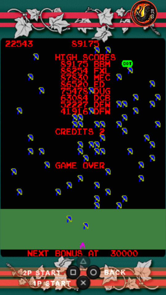 omargeddon: Atari Classics Evolved: Millipede [Classic] (PSP Emulated) 22,543 points on 2020-10-20 21:51:56