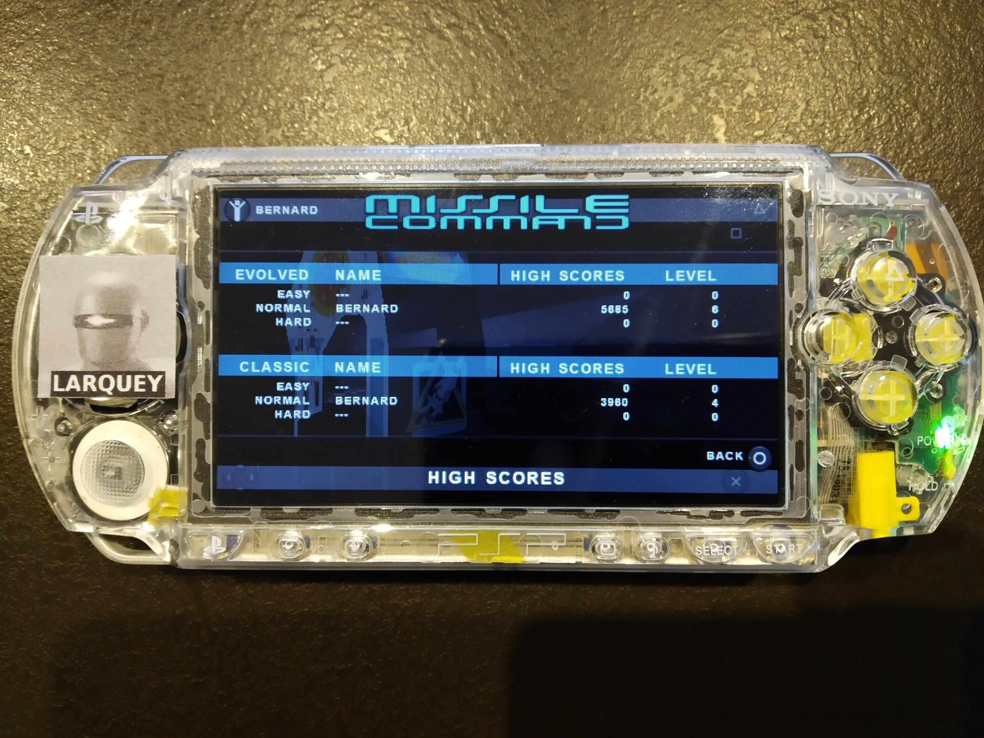 Larquey: Atari Classics Evolved: Missile Command [Evolved] (PSP) 5,885 points on 2019-12-26 17:47:35