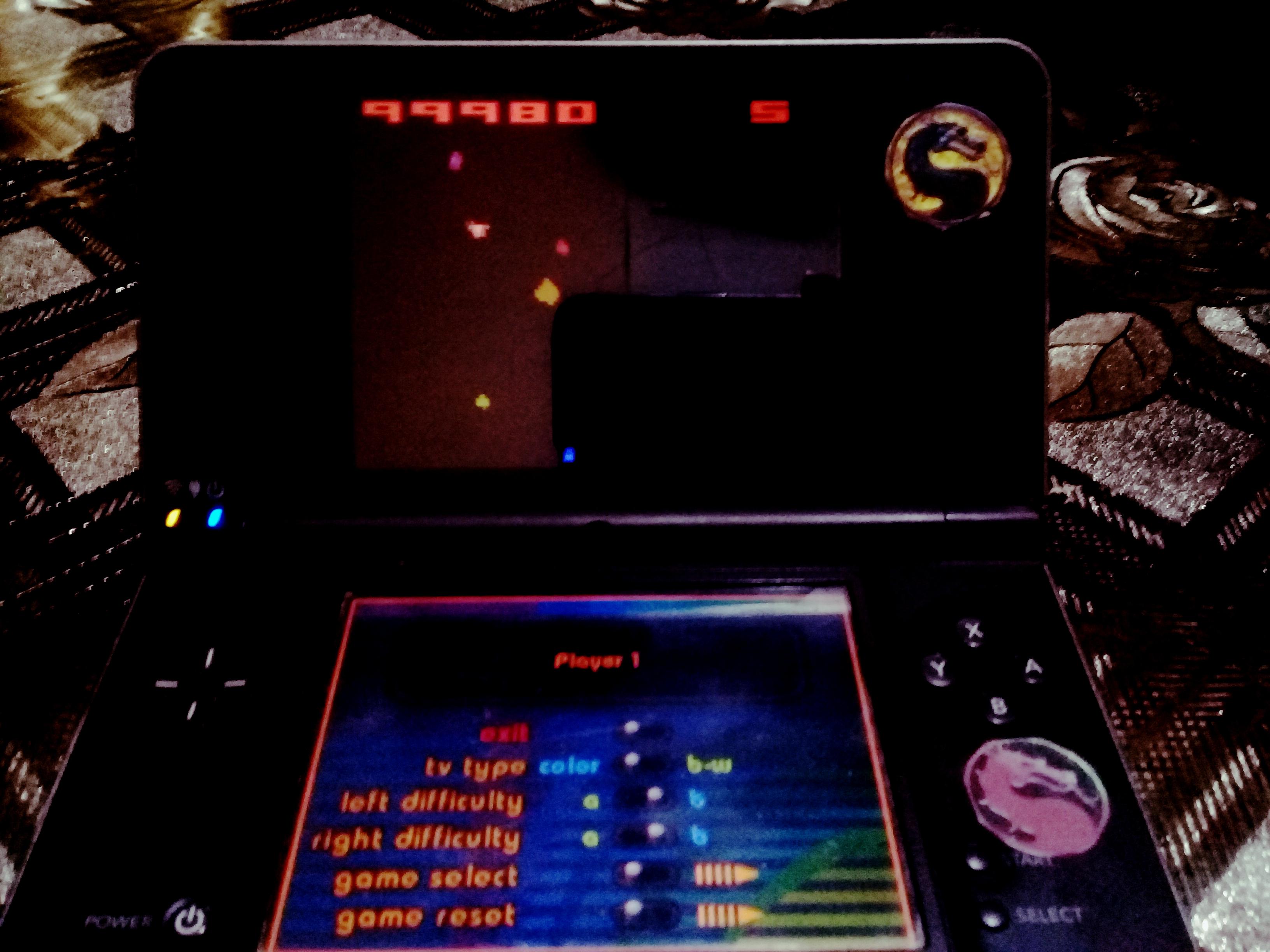 omargeddon: Atari Greatest Hits: Volume 1: Asteroids: Game 1 [Atari 2600] (Nintendo DS) 99,980 points on 2020-10-20 15:27:20