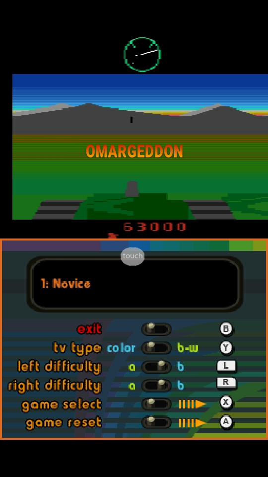omargeddon: Atari Greatest Hits: Volume 1: Battlezone [Atari 2600] (Nintendo DS Emulated) 63,000 points on 2018-10-06 21:46:58