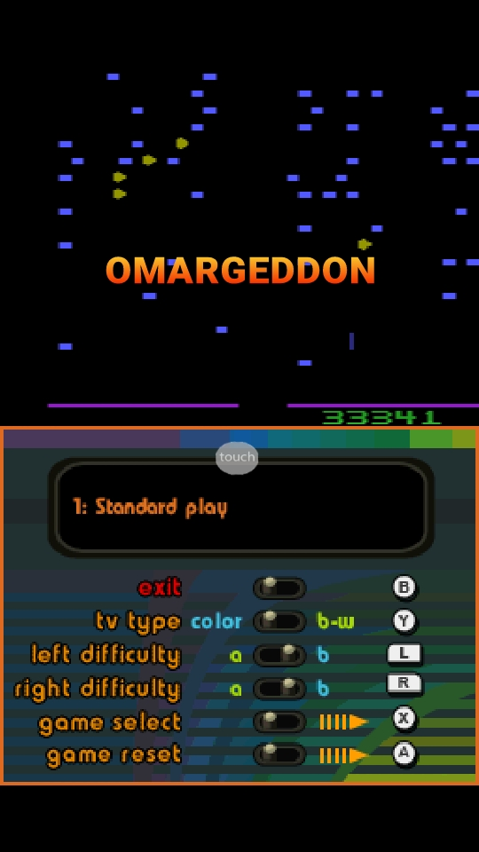 omargeddon: Atari Greatest Hits: Volume 1: Centipede [Atari 2600] (Nintendo DS Emulated) 33,341 points on 2018-10-19 13:21:22