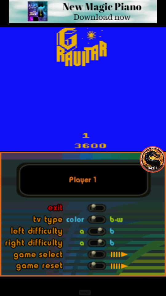 omargeddon: Atari Greatest Hits: Volume 1: Gravitar [Atari 2600 Novice/B] (Nintendo DS Emulated) 3,600 points on 2019-01-25 10:55:52