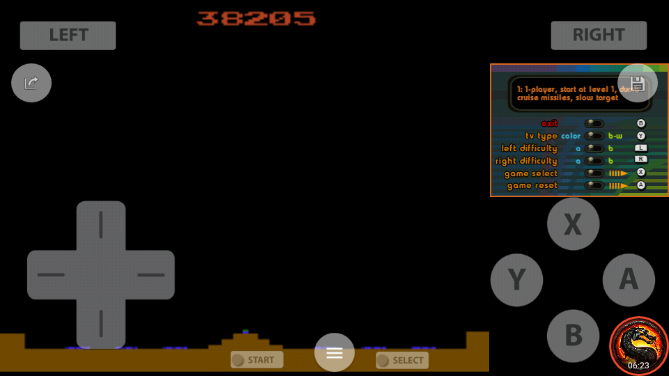 omargeddon: Atari Greatest Hits: Volume 1: Missile Command [Game 1A][Atari 2600] (Nintendo DS Emulated) 38,205 points on 2020-07-30 20:36:57
