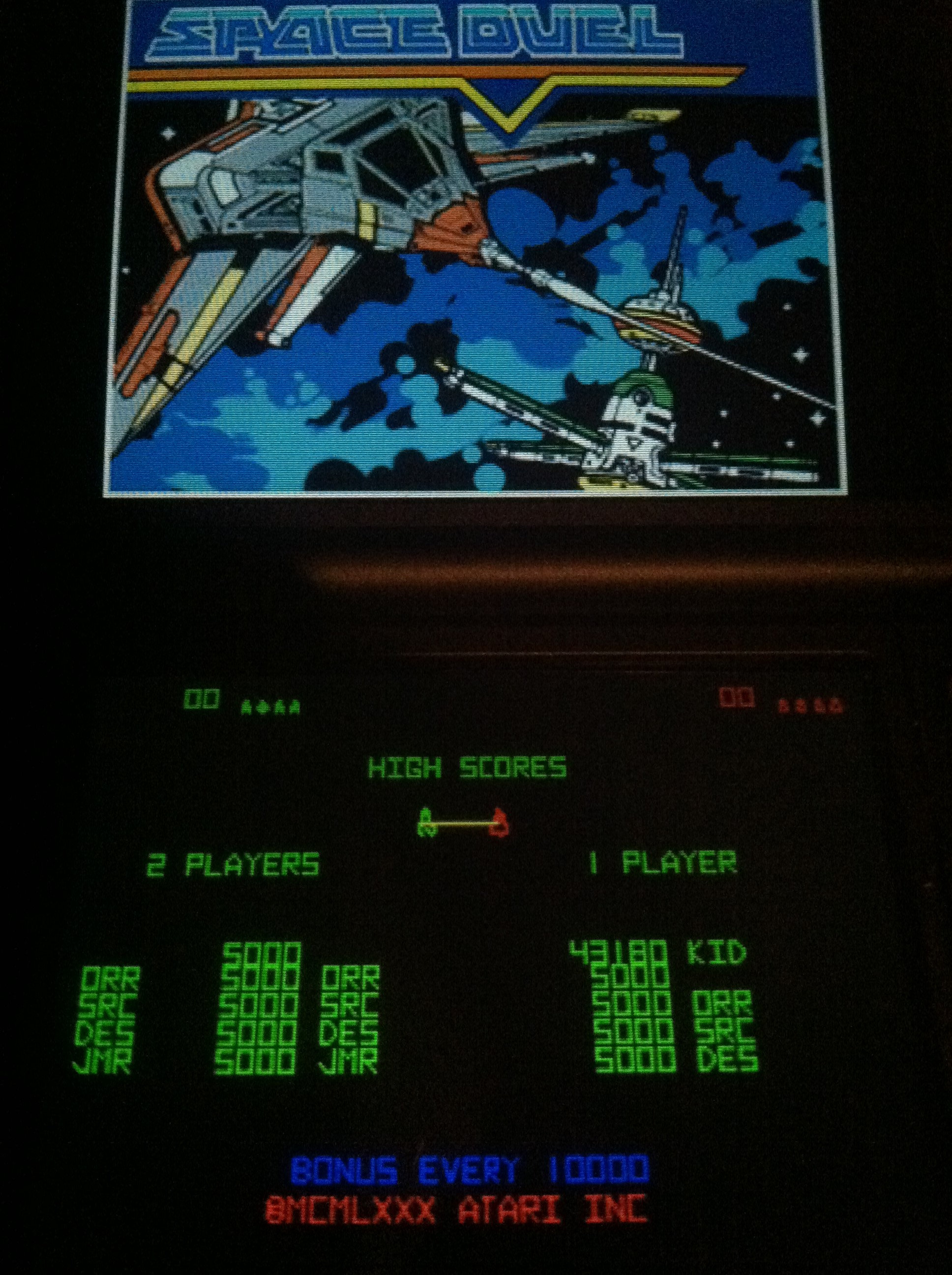 DakotaKid: Atari Greatest Hits: Volume 1: Space Duel [Arcade/Double Ship] (Nintendo DS) 43,180 points on 2017-10-15 02:12:05
