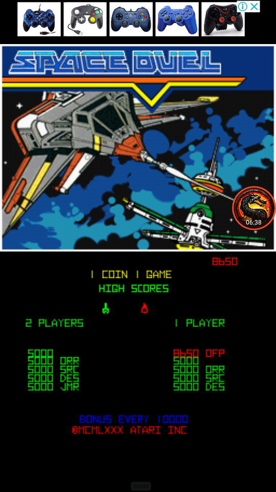 omargeddon: Atari Greatest Hits: Volume 1: Space Duel [Arcade/Double Ship] (Nintendo DS Emulated) 8,650 points on 2020-06-05 17:11:31
