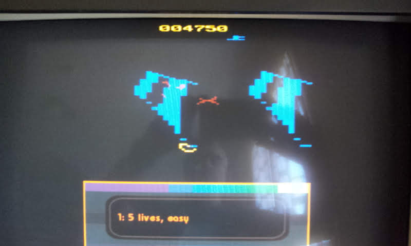 Larquey: Atari Greatest Hits: Volume 1: Tempest: Game 1 [Atari 2600] (Nintendo DS Emulated) 4,750 points on 2018-08-15 08:19:09