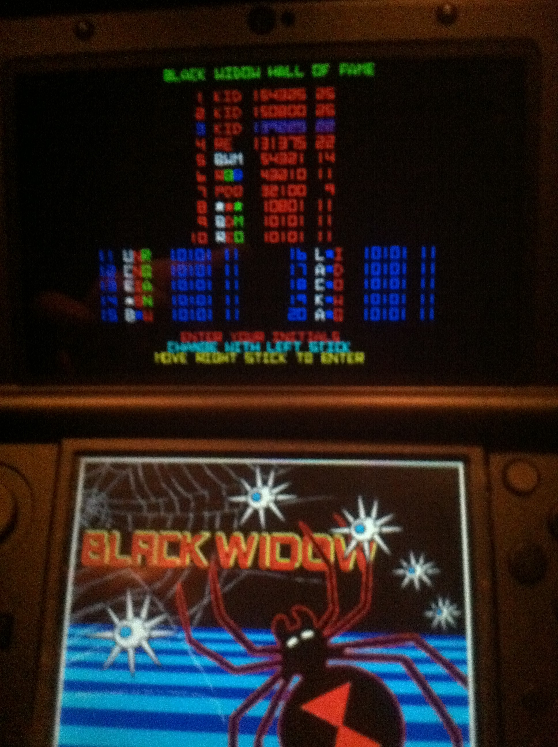DakotaKid: Atari Greatest Hits: Volume 2: Black Widow [Arcade] (Nintendo DS) 139,225 points on 2017-09-14 23:29:48