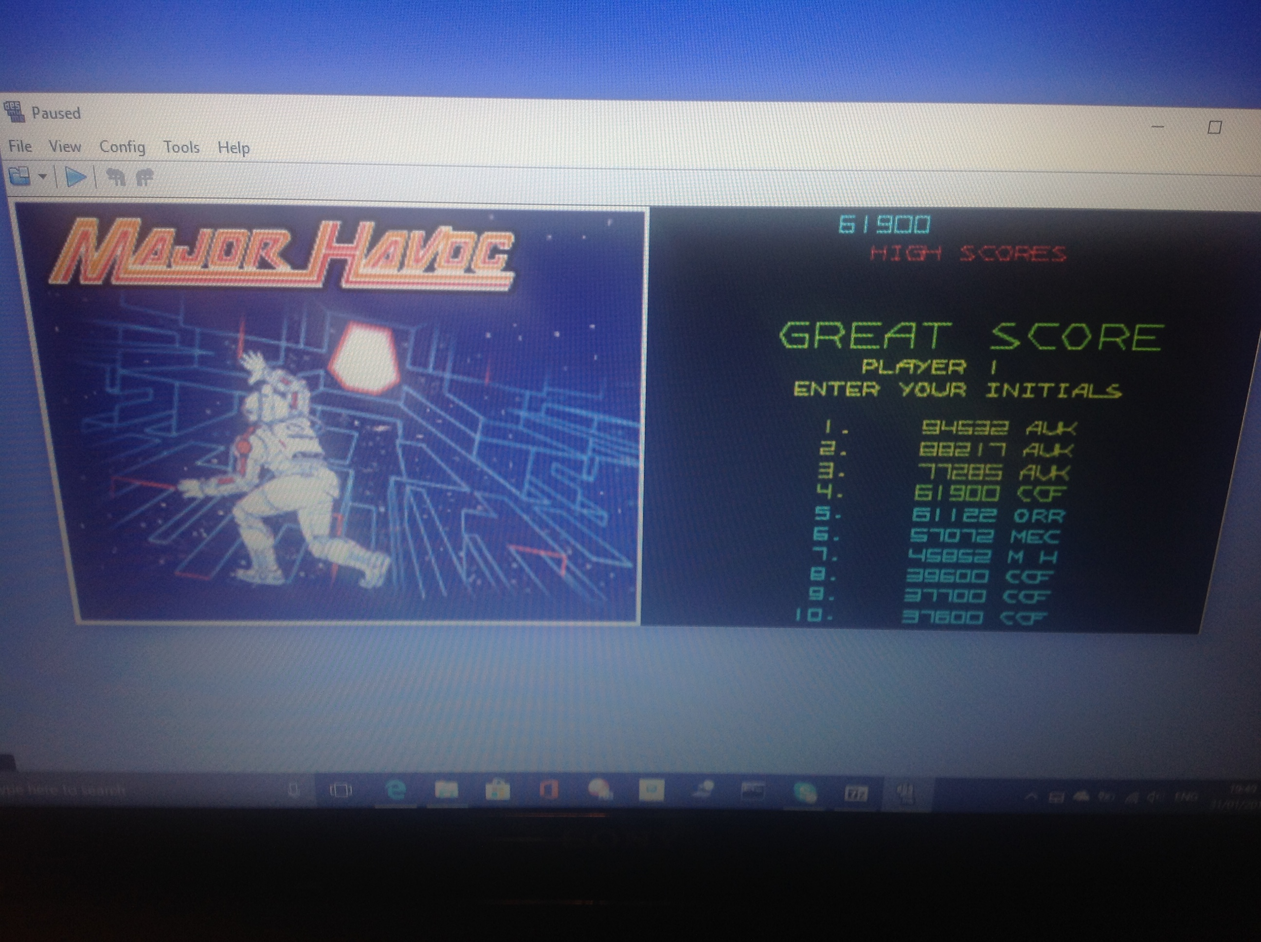 CoCoForest: Atari Greatest Hits: Volume 2: Major Havoc [Arcade] (Nintendo DS Emulated) 61,900 points on 2018-01-31 13:50:39