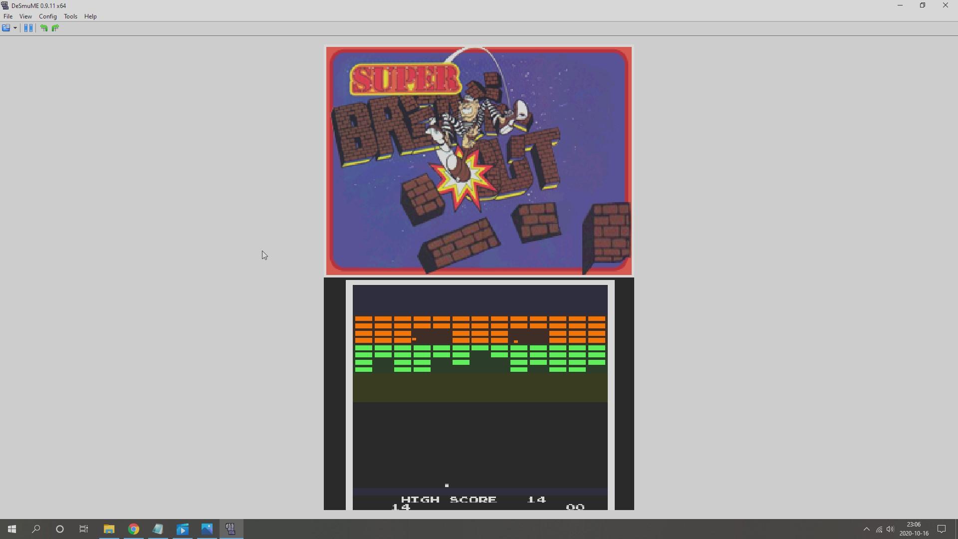 AkinNahtanoj: Atari Greatest Hits: Volume 2: Super Breakout [Arcade] (Nintendo DS Emulated) 14 points on 2020-10-16 16:09:50