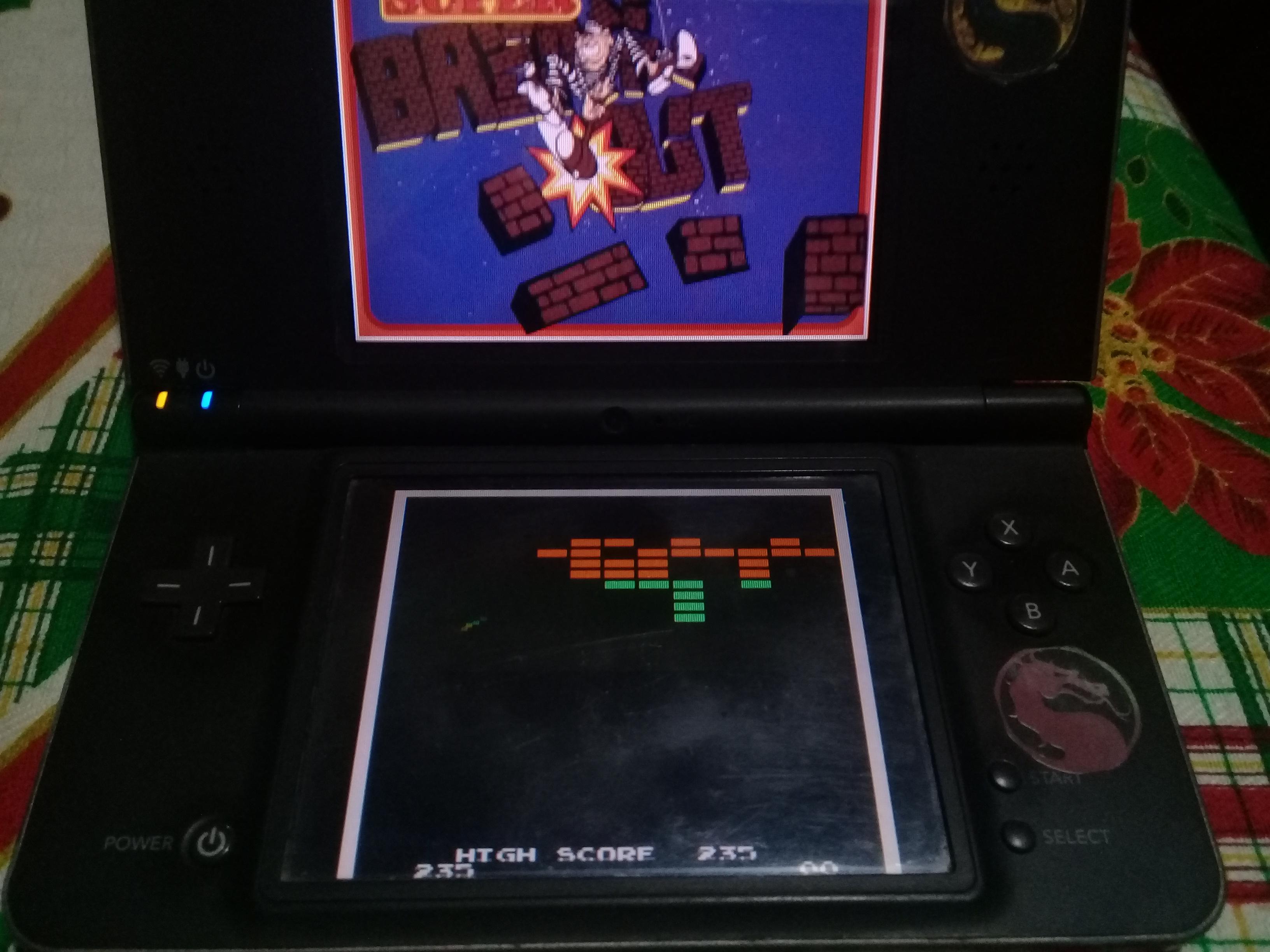 omargeddon: Atari Greatest Hits: Volume 2: Super Breakout [Arcade] (Nintendo DS) 235 points on 2021-03-18 19:54:08