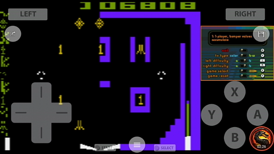 omargeddon: Atari Greatest Hits: Volume 2: Video Pinball [Atari 2600] (Nintendo DS Emulated) 6,808 points on 2020-07-30 21:02:10