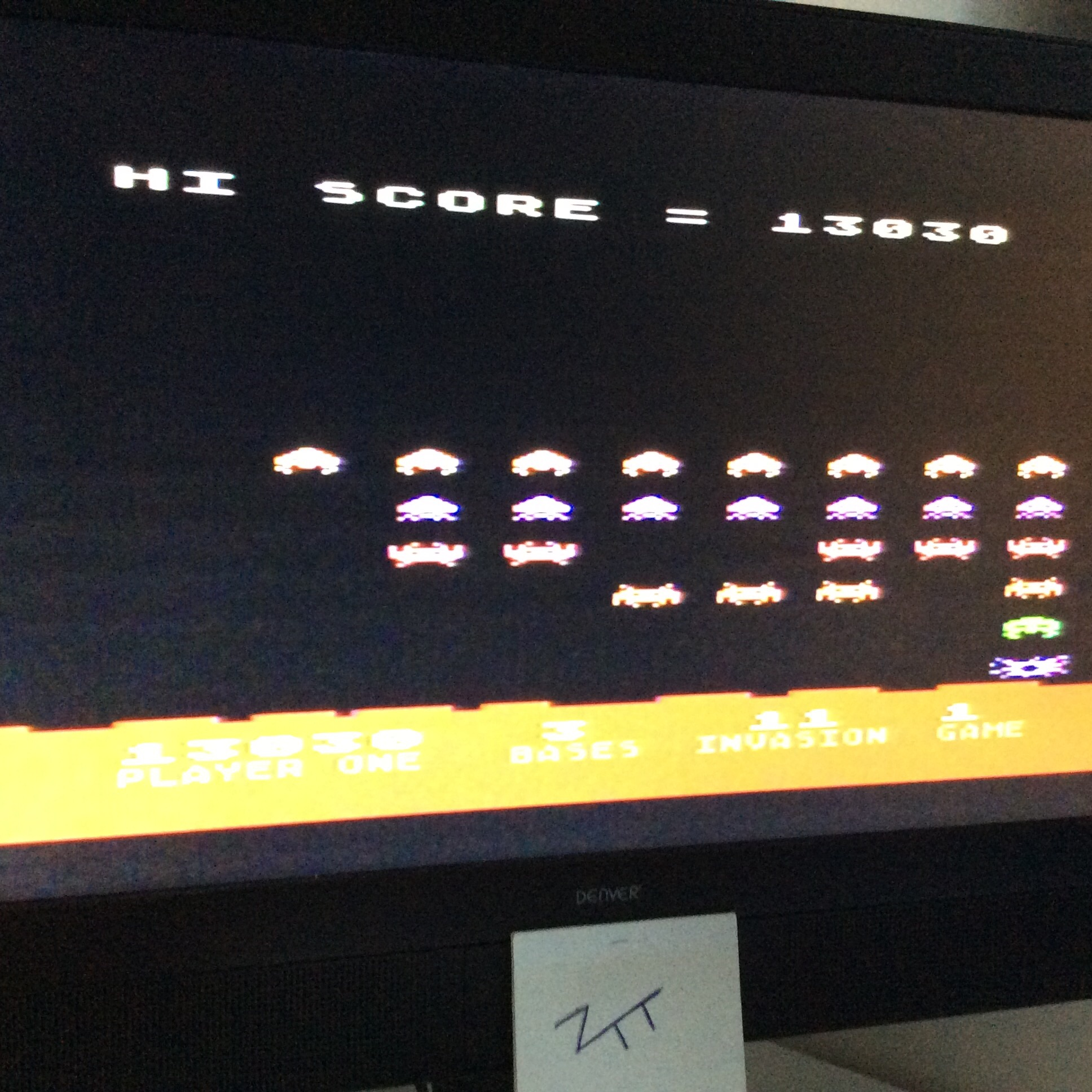 Atari Invaders 13,030 points