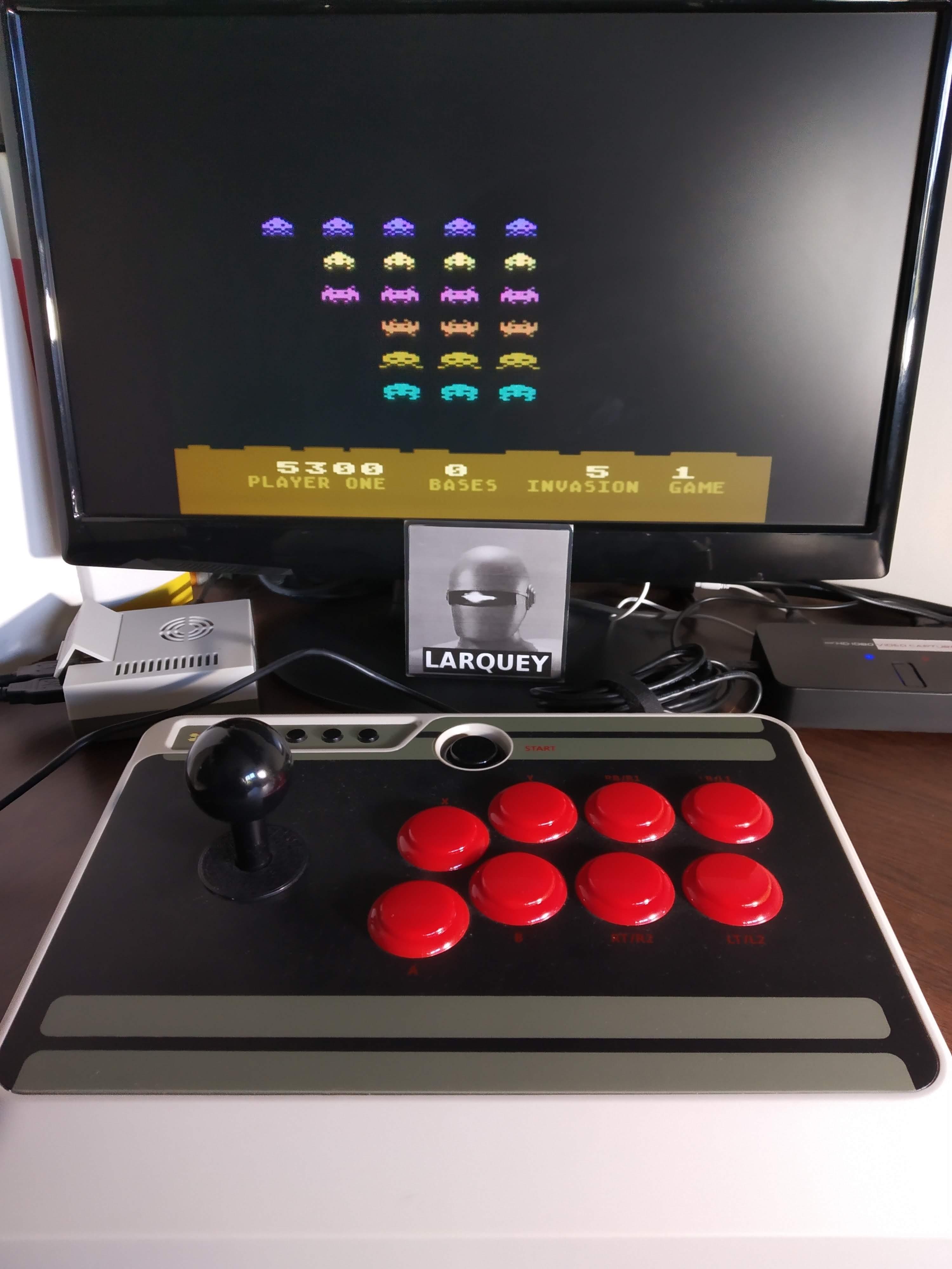 Larquey: Atari Invaders (Atari 400/800/XL/XE Emulated) 5,300 points on 2019-11-24 12:07:02