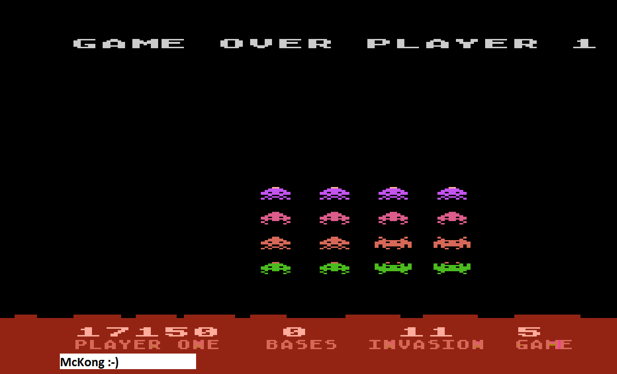 Atari Invaders [Game 5] 17,150 points