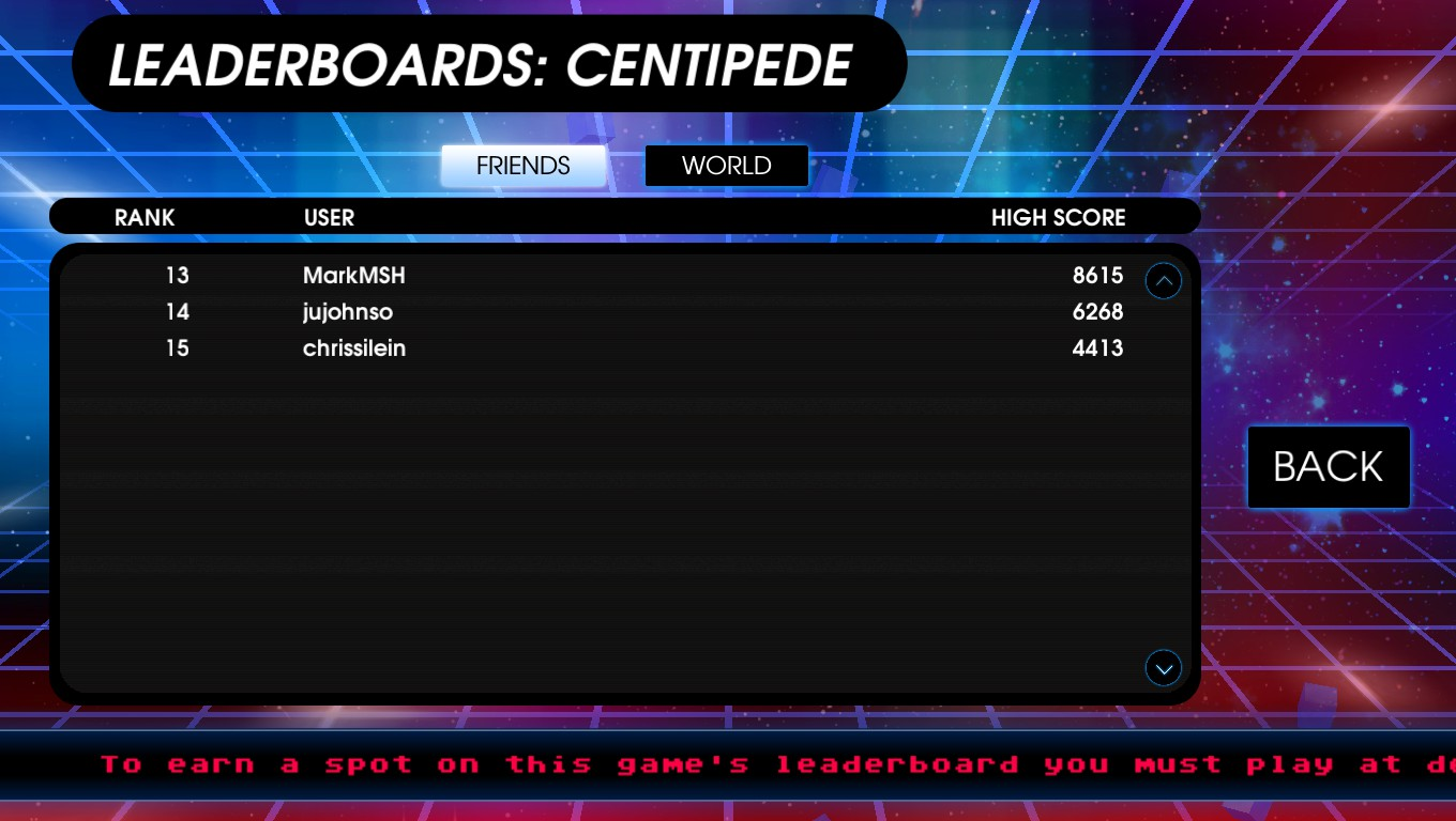 Mark: Atari Vault: Centipede [Arcade] (PC) 8,615 points on 2018-12-30 02:48:11