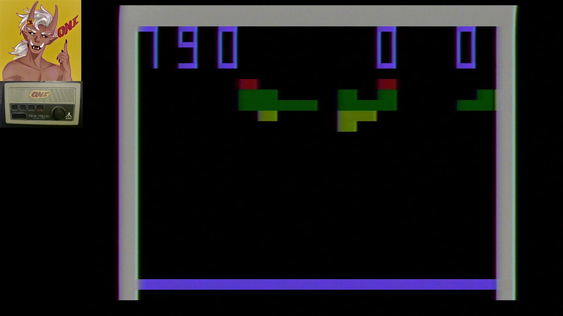 Atari Video Pinball [Model C-380]: Breakout 790 points