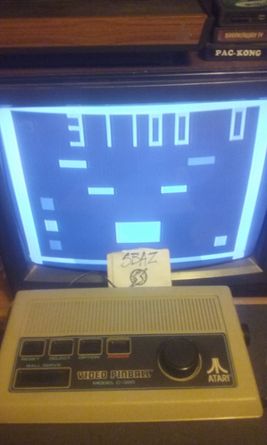 S.BAZ: Atari Video Pinball [Model C-380]: Flipper Pinball I (Dedicated Console) 31,100 points on 2019-11-17 01:18:33