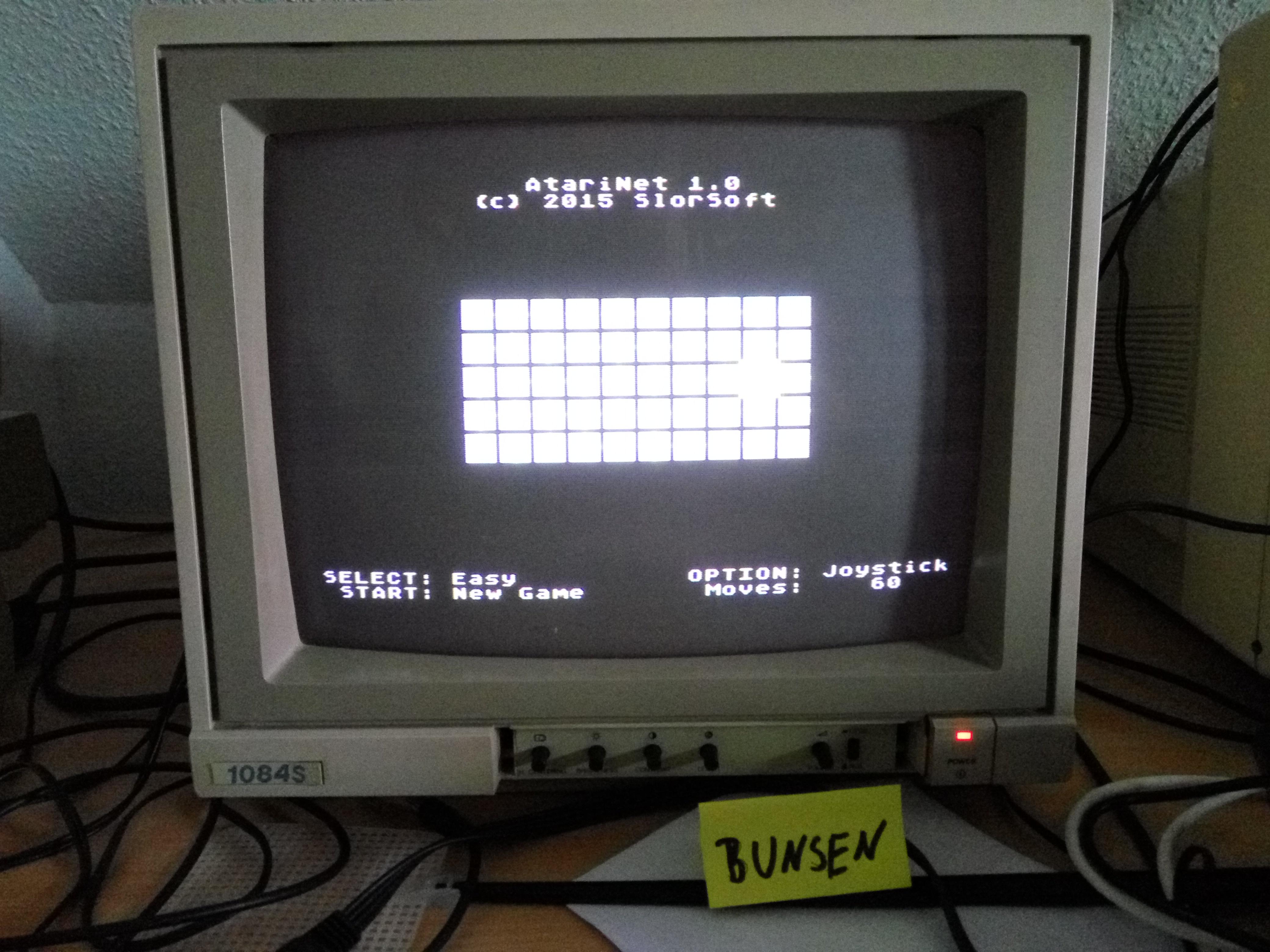 Bunsen: AtariNet 1.0 [Easy] (Atari 400/800/XL/XE) 60 points on 2016-10-06 14:36:37