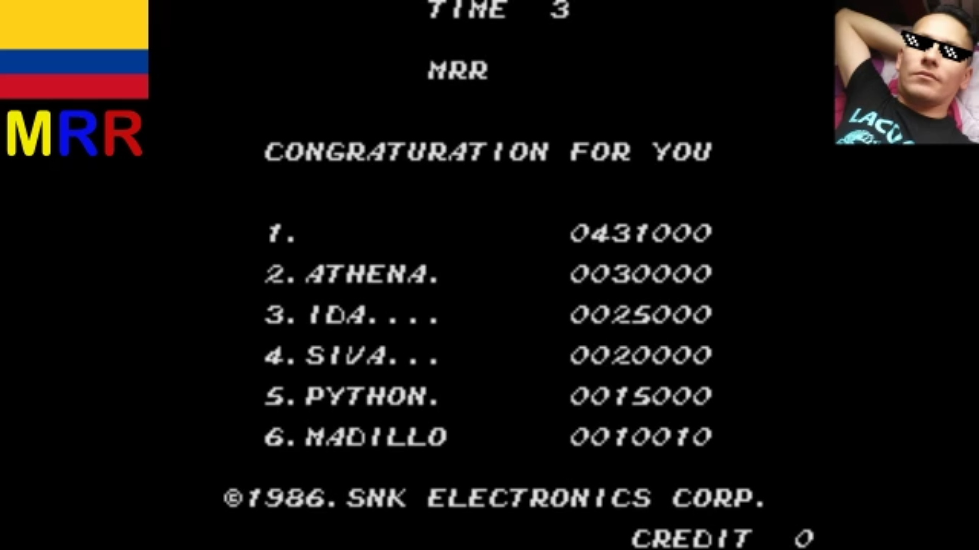 AmoKronos: Athena (Arcade Emulated / M.A.M.E.) 431,000 points on 2017-04-26 08:33:46