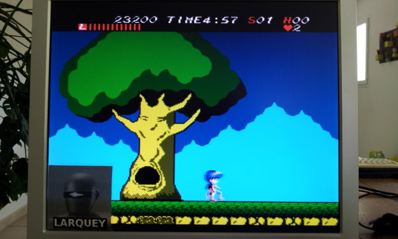 Larquey: Athena (NES/Famicom Emulated) 23,200 points on 2017-04-27 05:49:16