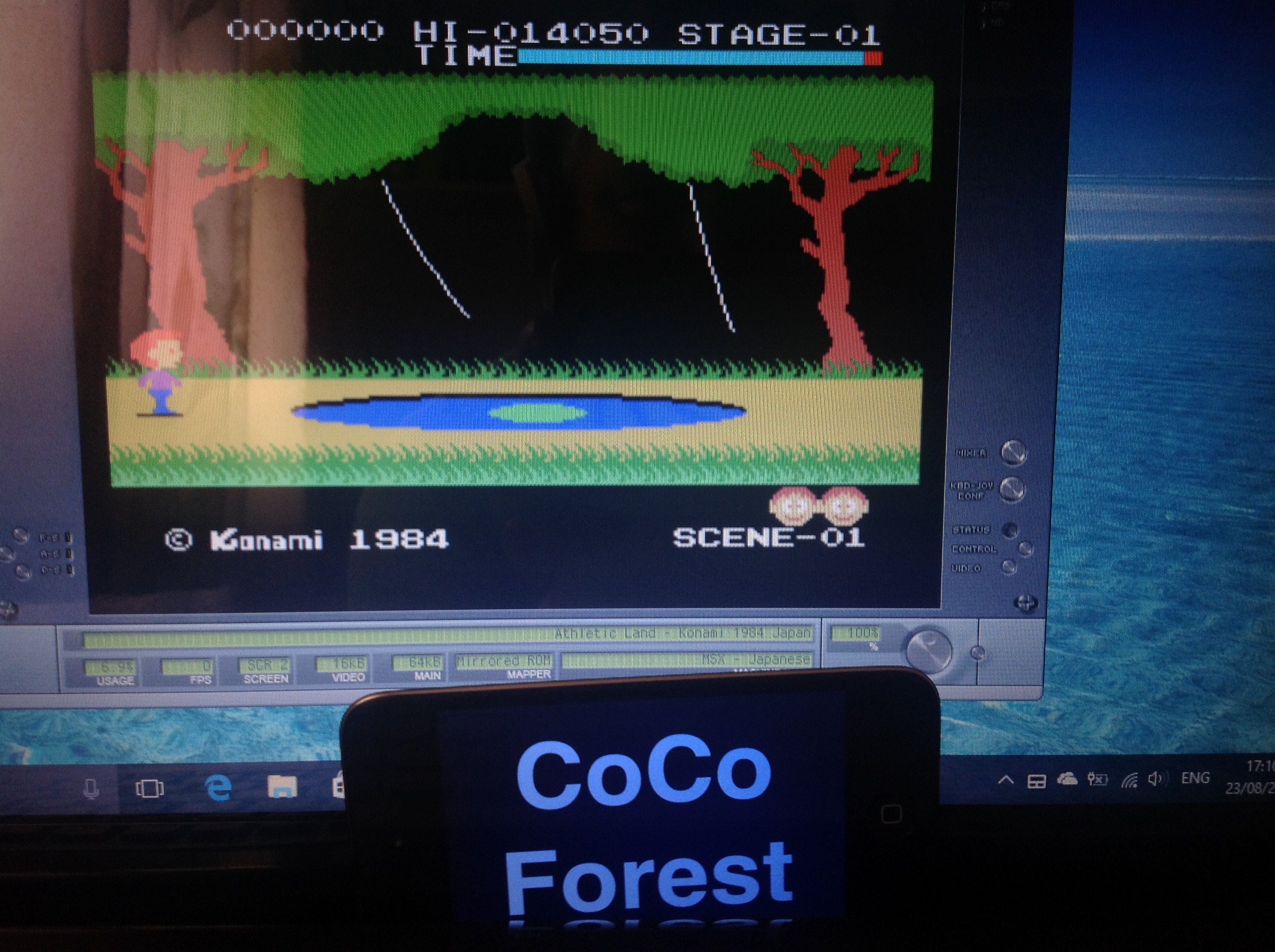 CoCoForest: Athletic Land (MSX Emulated) 14,050 points on 2017-08-23 11:11:55