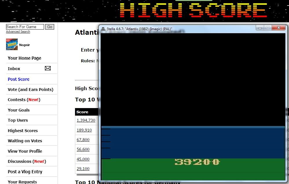 Atlantis 39,200 points