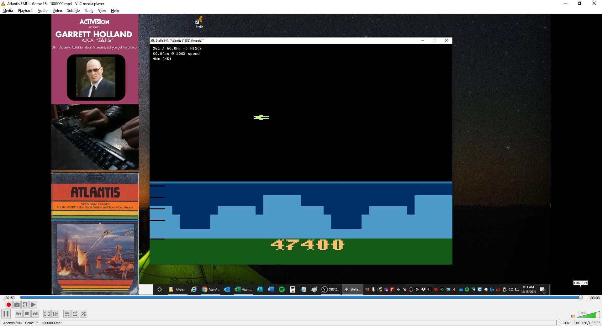 ZilchSr: Atlantis (Atari 2600 Emulated) 1,047,400 points on 2020-05-07 02:05:19