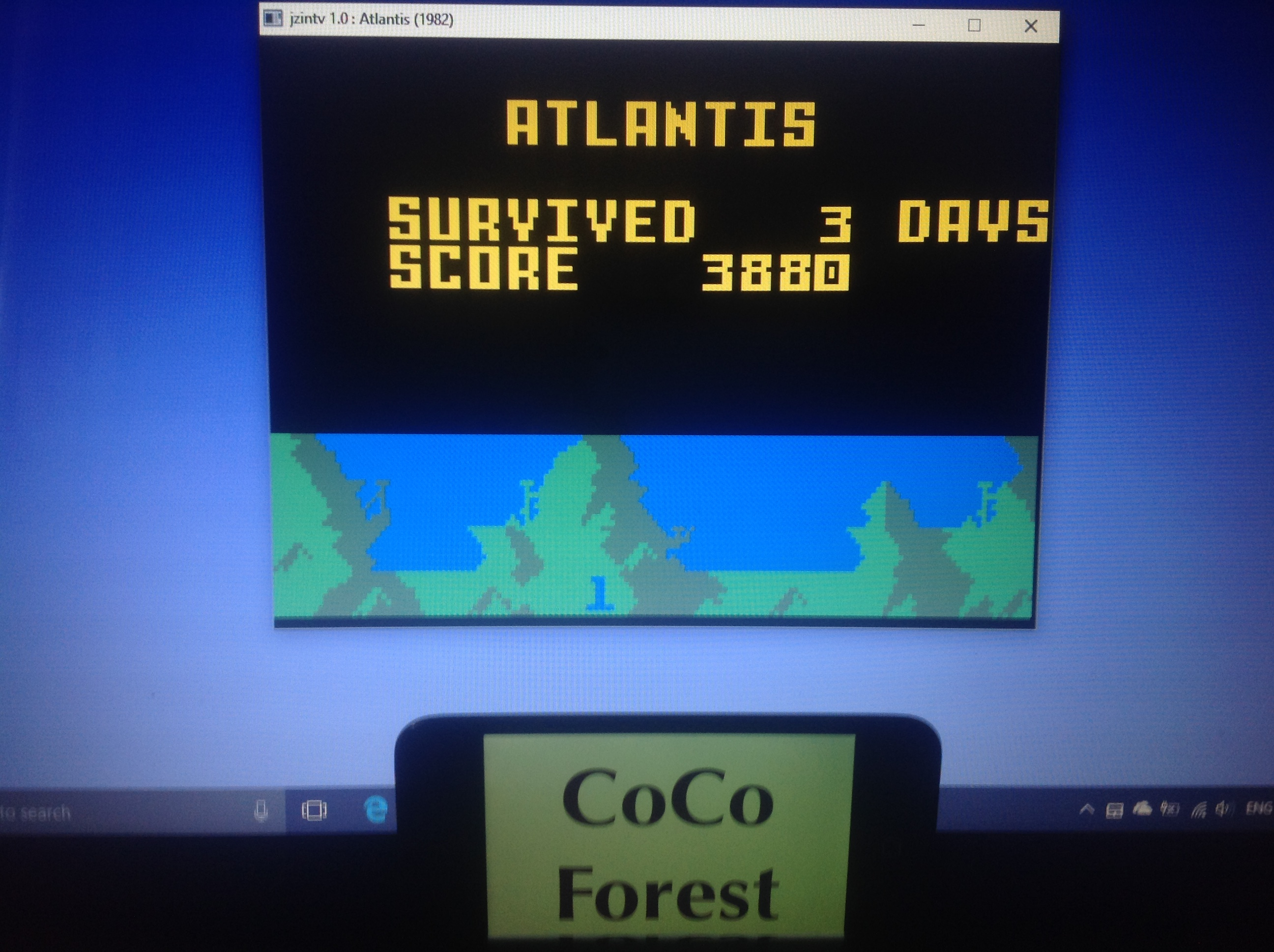 CoCoForest: Atlantis: Easy (Intellivision Emulated) 3,880 points on 2018-01-28 03:16:16