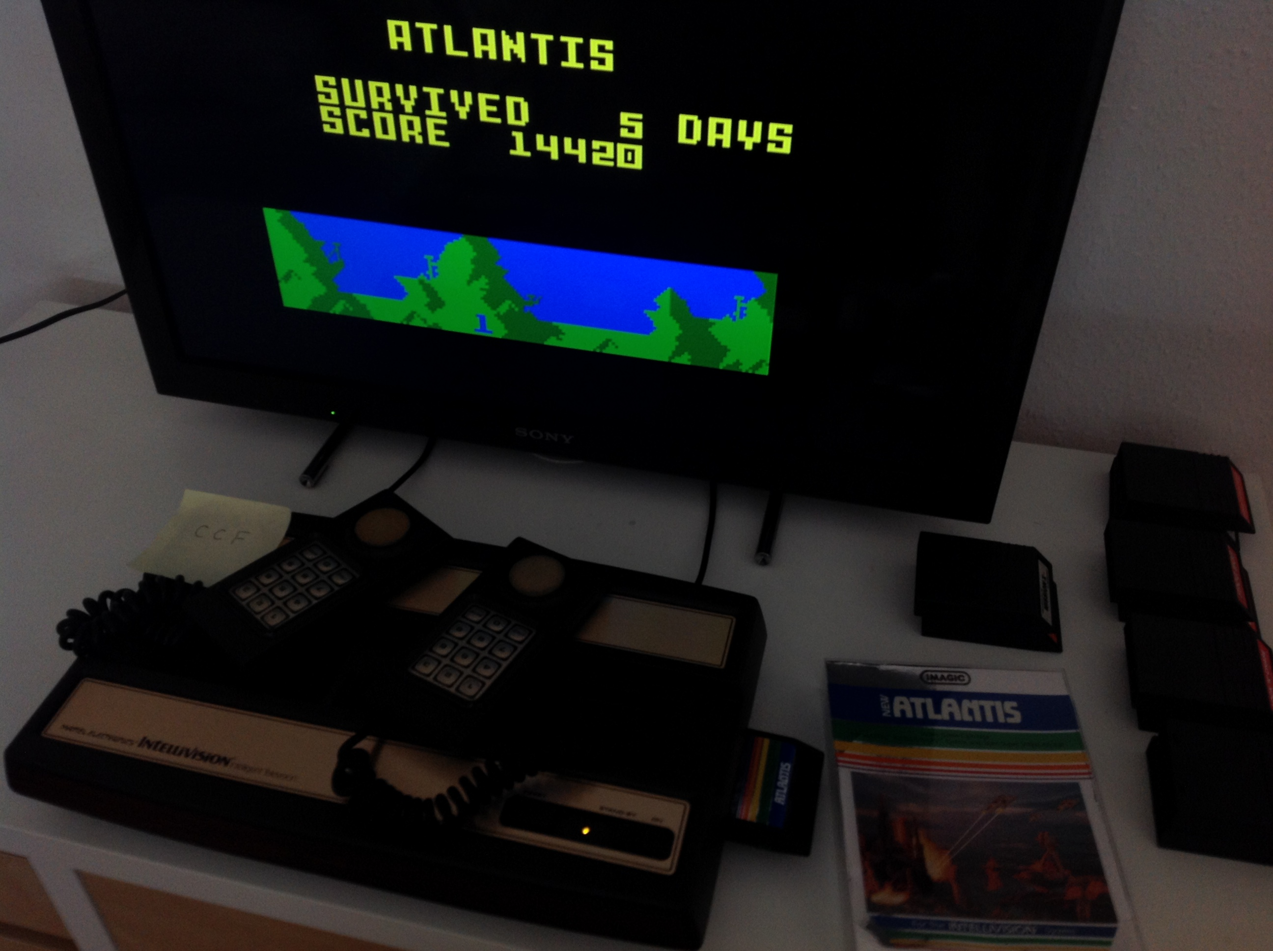 CoCoForest: Atlantis: Easy (Intellivision) 14,420 points on 2018-08-30 11:20:46