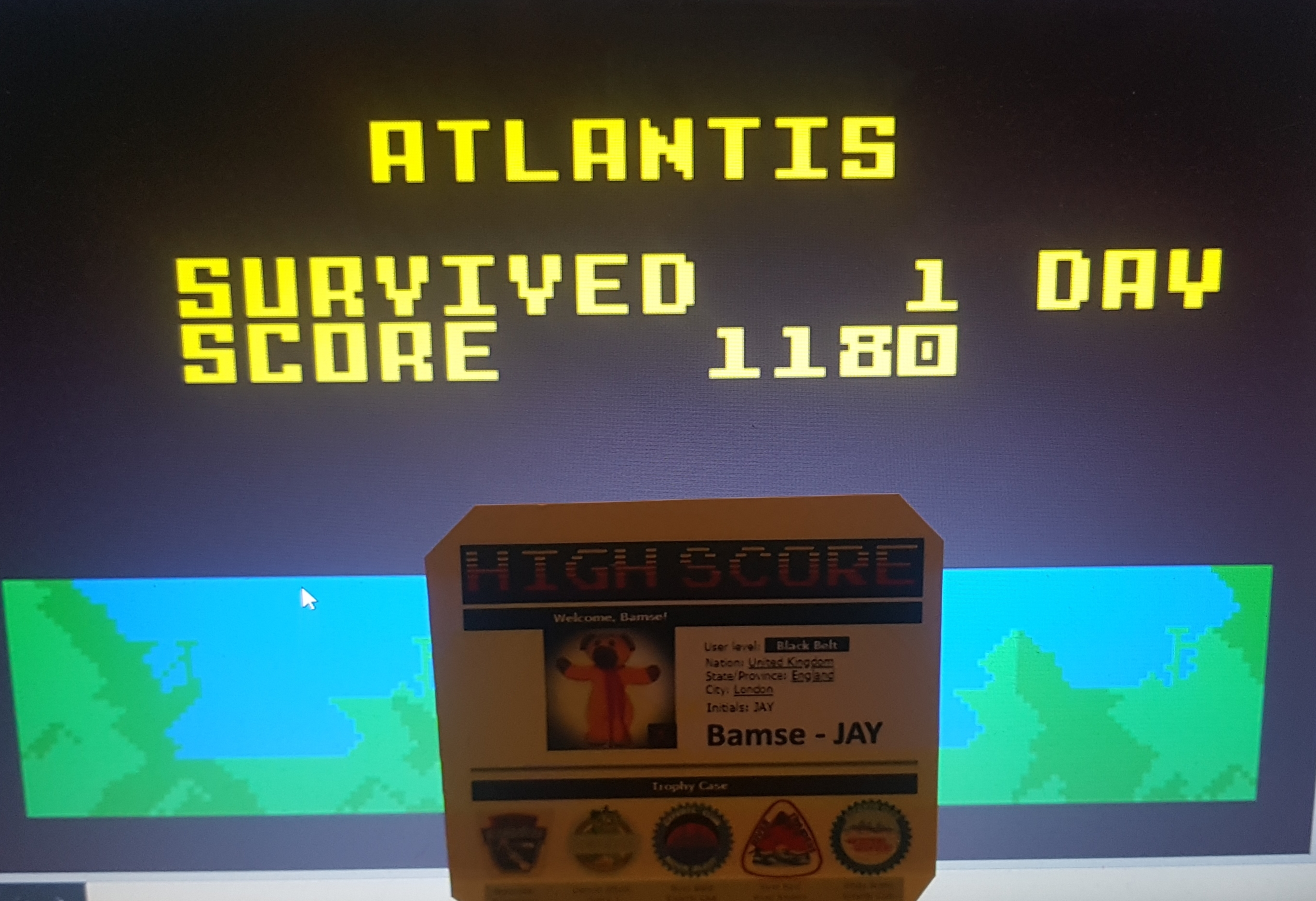 Bamse: Atlantis: Hard (Intellivision Emulated) 1,180 points on 2019-08-14 17:12:13