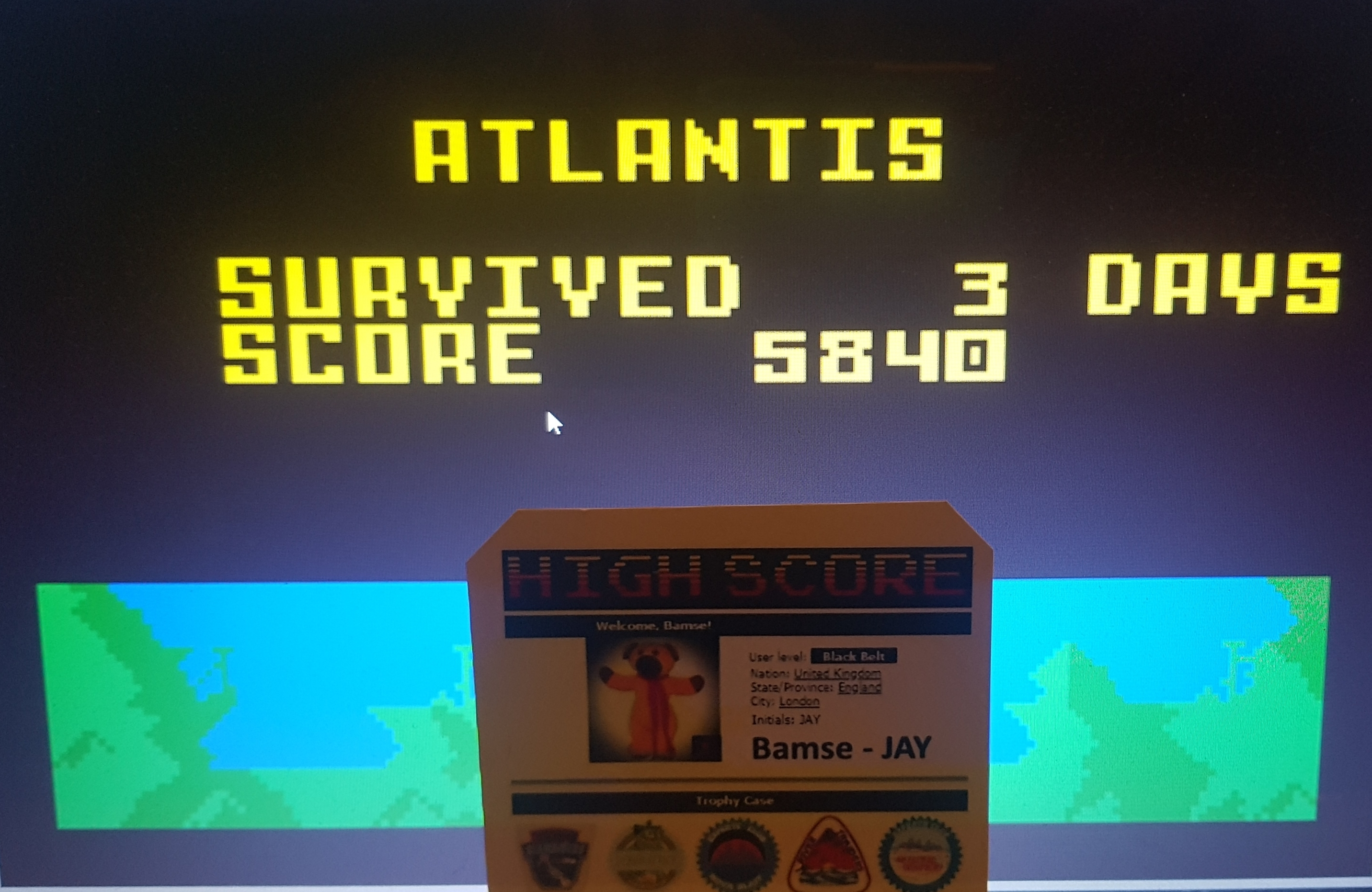 Bamse: Atlantis: Medium (Intellivision Emulated) 5,840 points on 2019-08-14 17:13:10