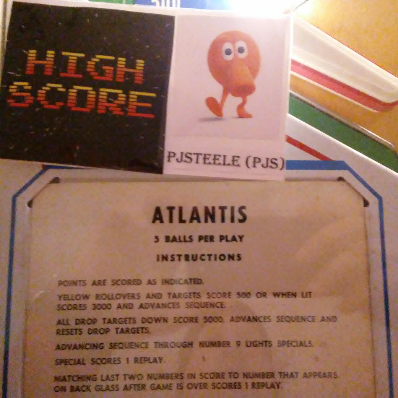 Pjsteele: Atlantis (Pinball: 5 Balls) 31,620 points on 2017-12-31 18:44:05